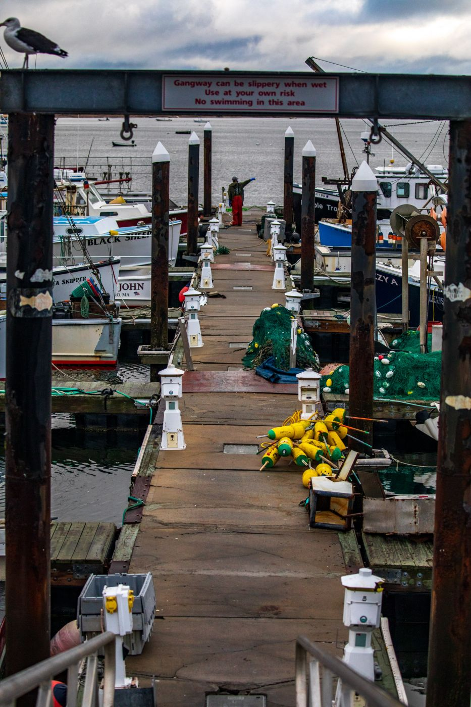 Provincetown Fishing boat wharf Cape Cod, USA