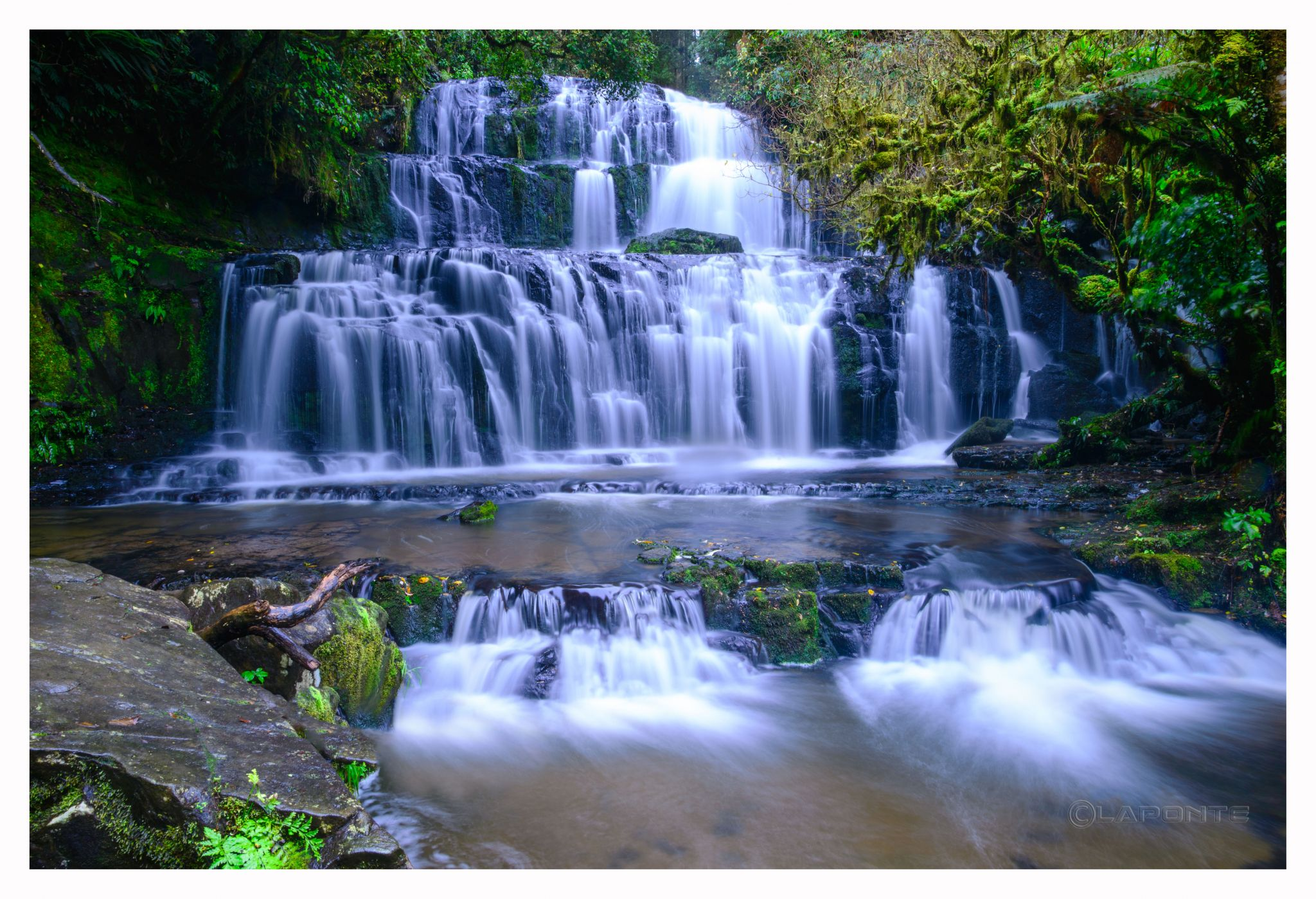 Purakaunui Falls, Southland Region, New Zealand