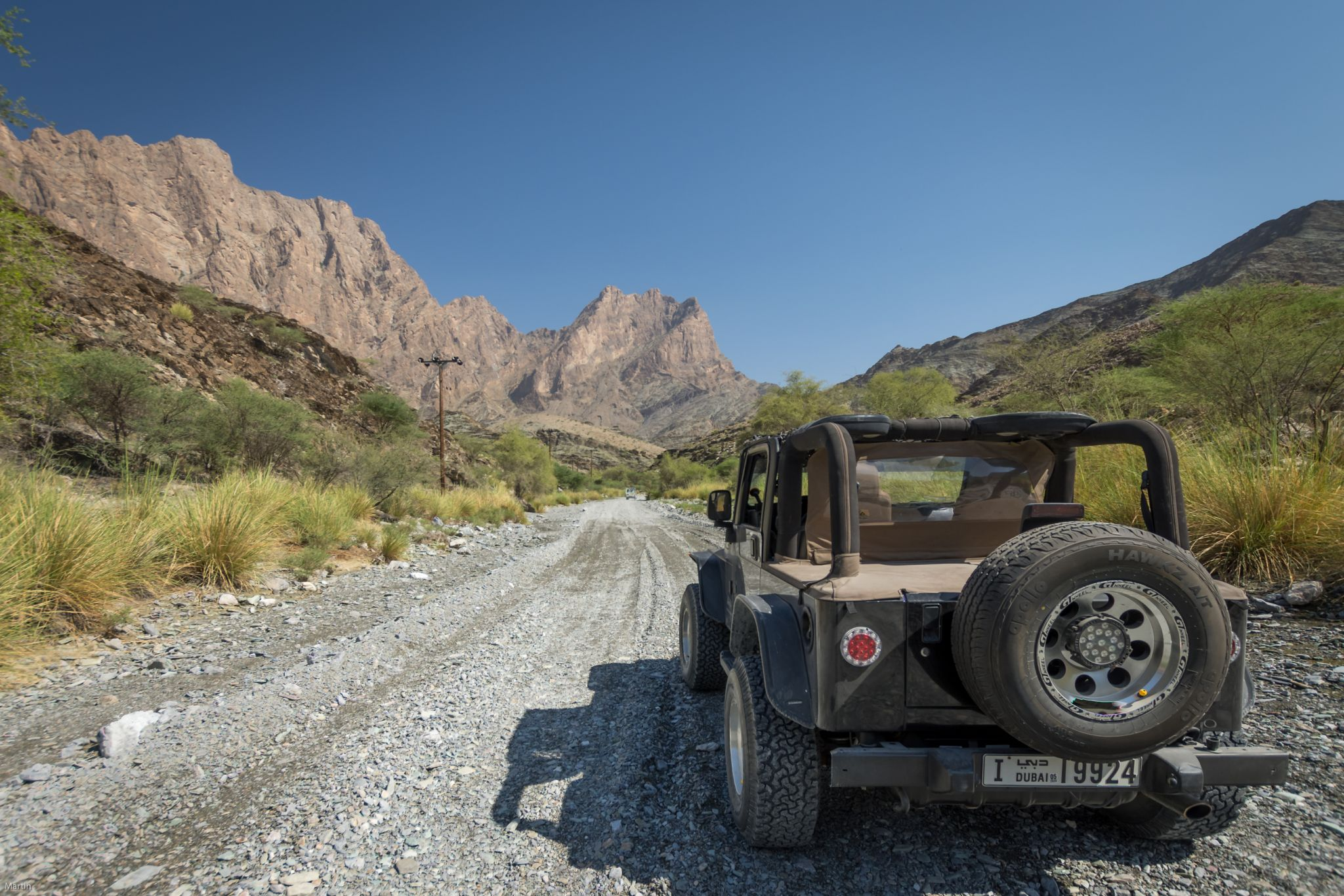 roads in the jebel shams, Oman