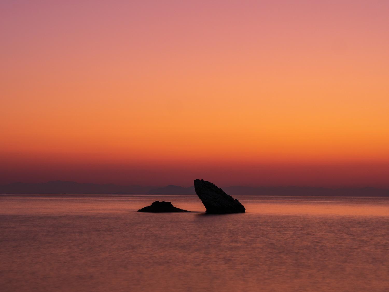 Rock formations at Limenia Beach, Kefalonia, Greece