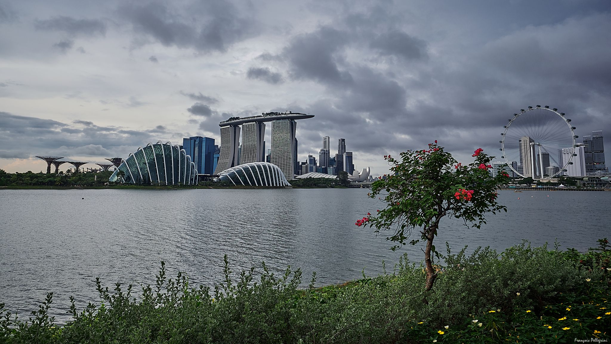 Singapore Skyline (from Gardens by the Bay East), Singapore