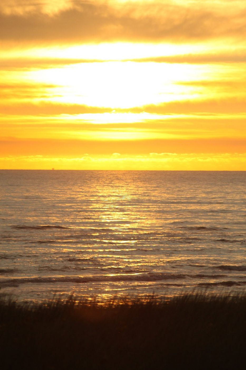 Sonnenuntergang in Egmond aan Zee, Netherlands