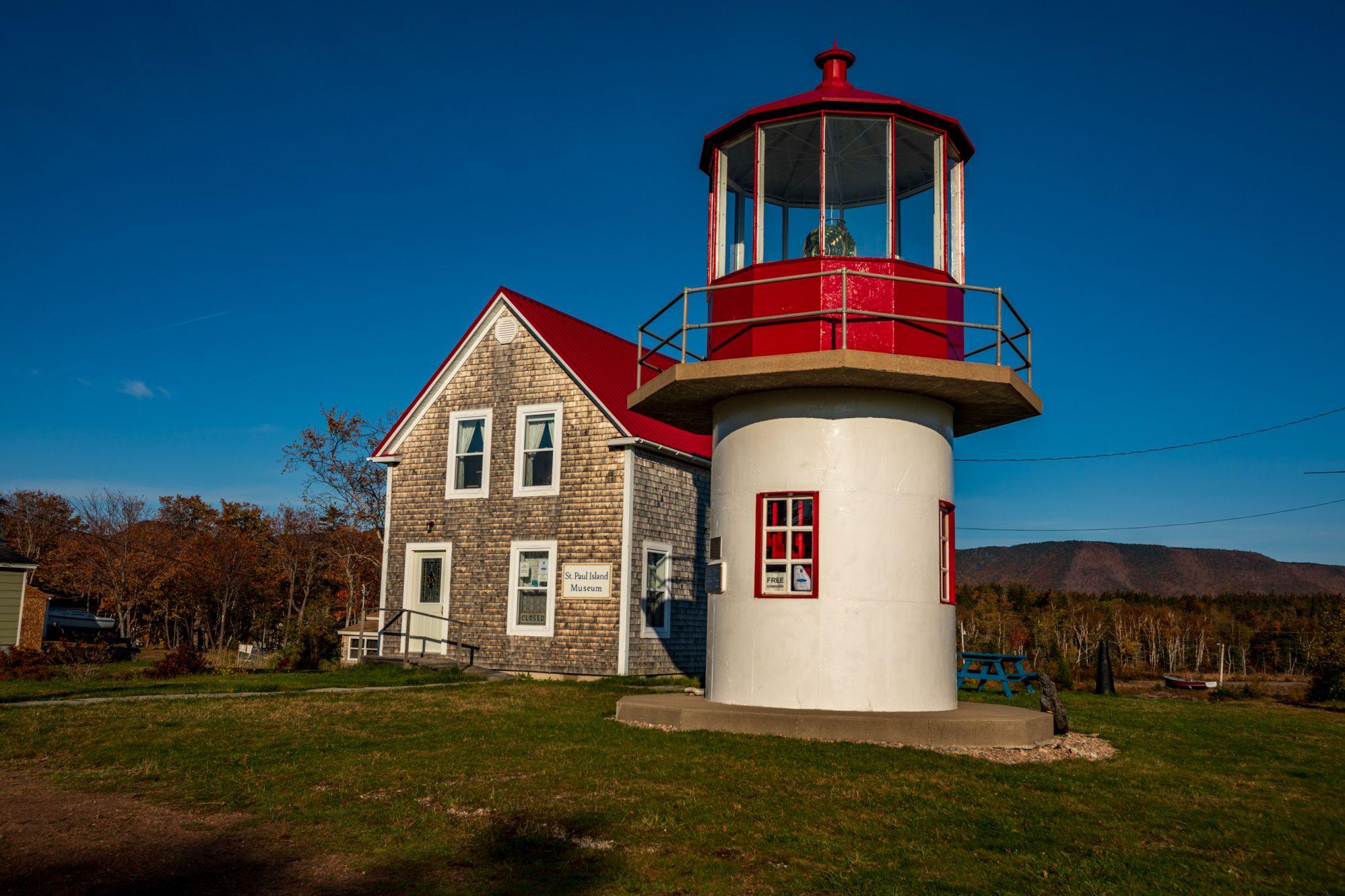St. Paul Lighthouse, Dingwall, Cape Breton Nova Scotia, Canada