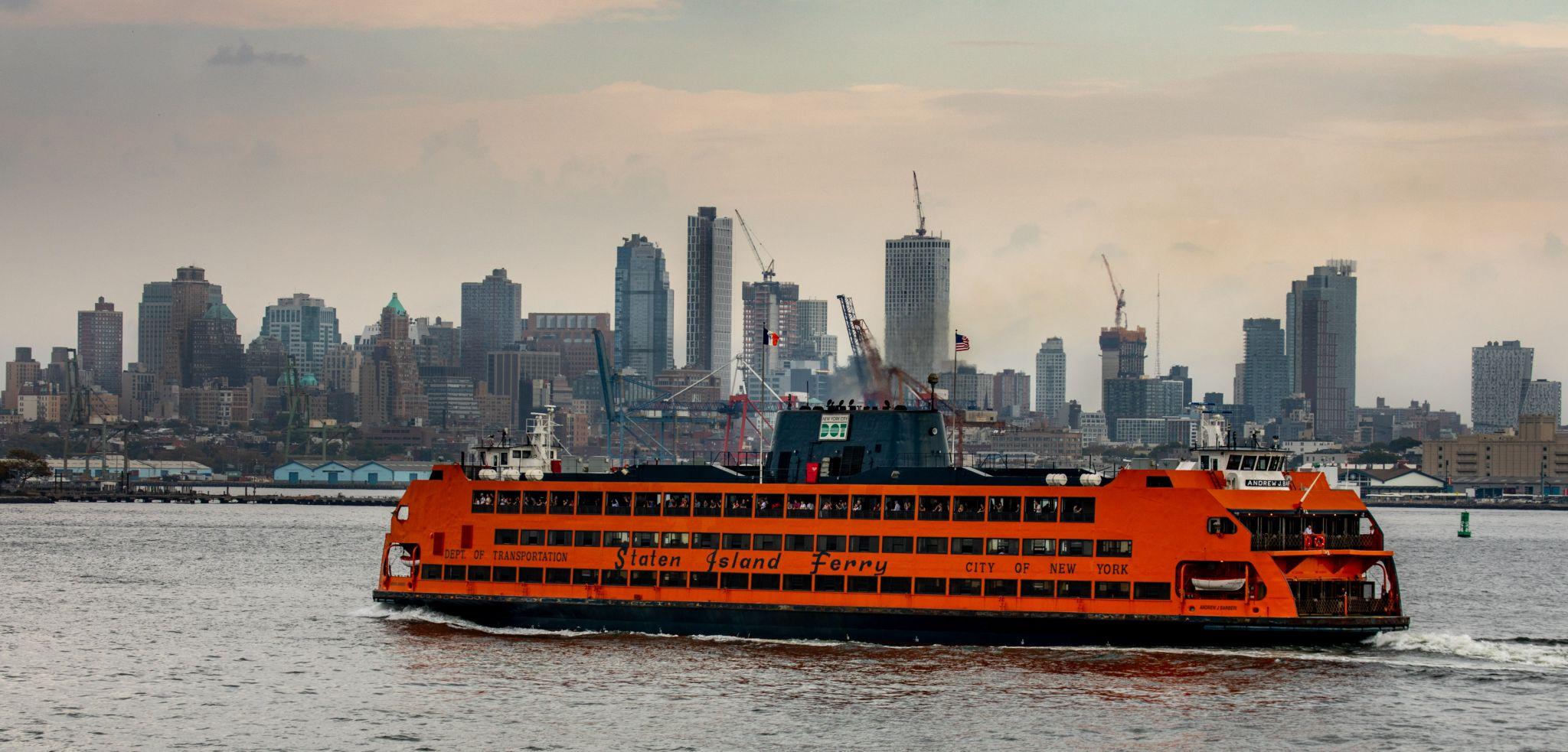 Staten Island Ferry from Lower Manhattan  New York, USA