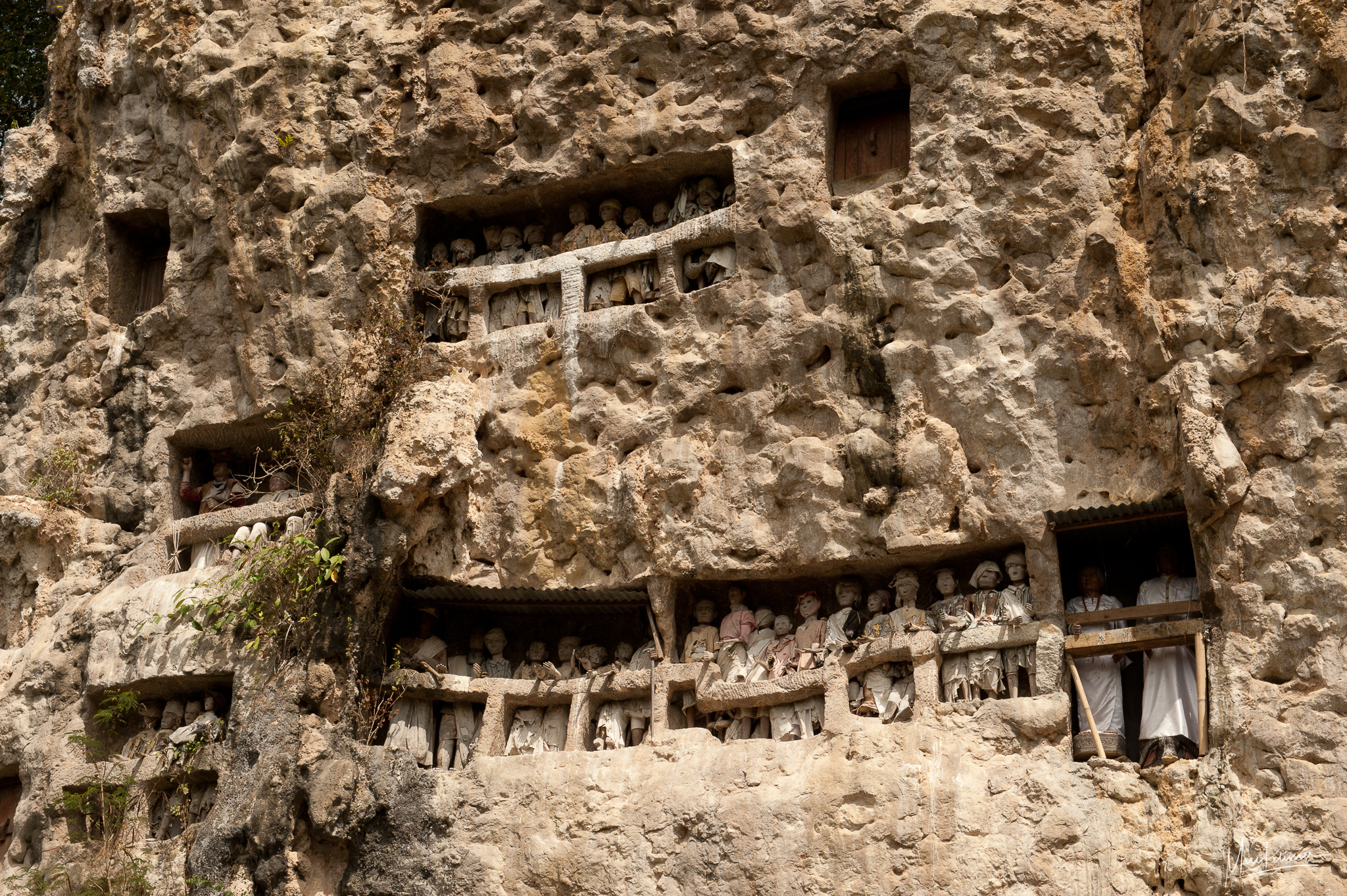 Suaya cliff tomb & mummy, Indonesia