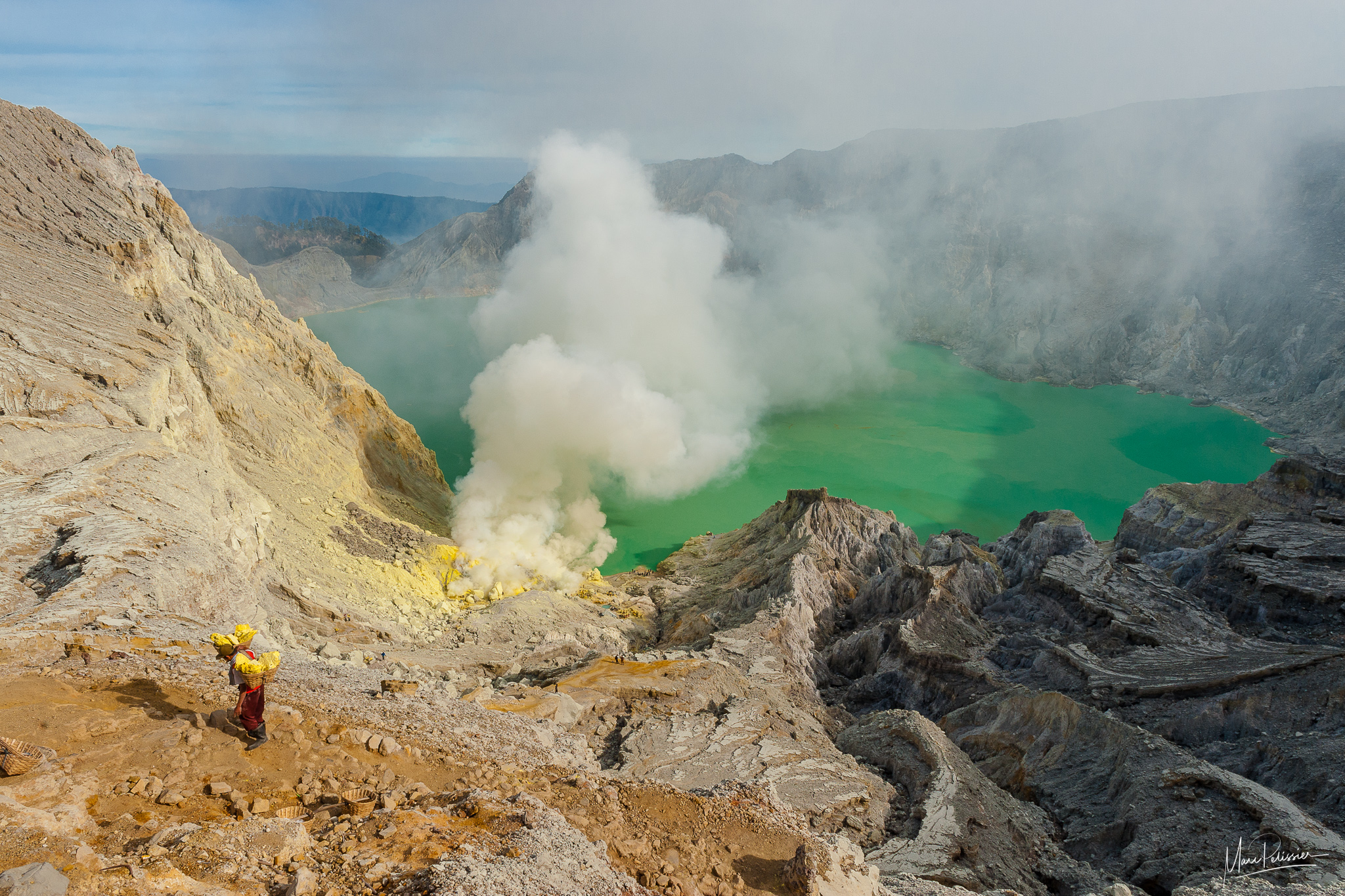 The Kawah Ijen acid lake volcano, Indonesia