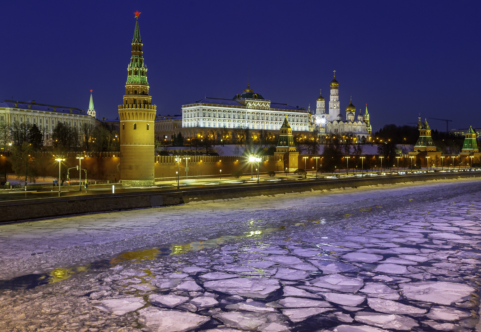 The Kremlin and Moskva River, Russian Federation