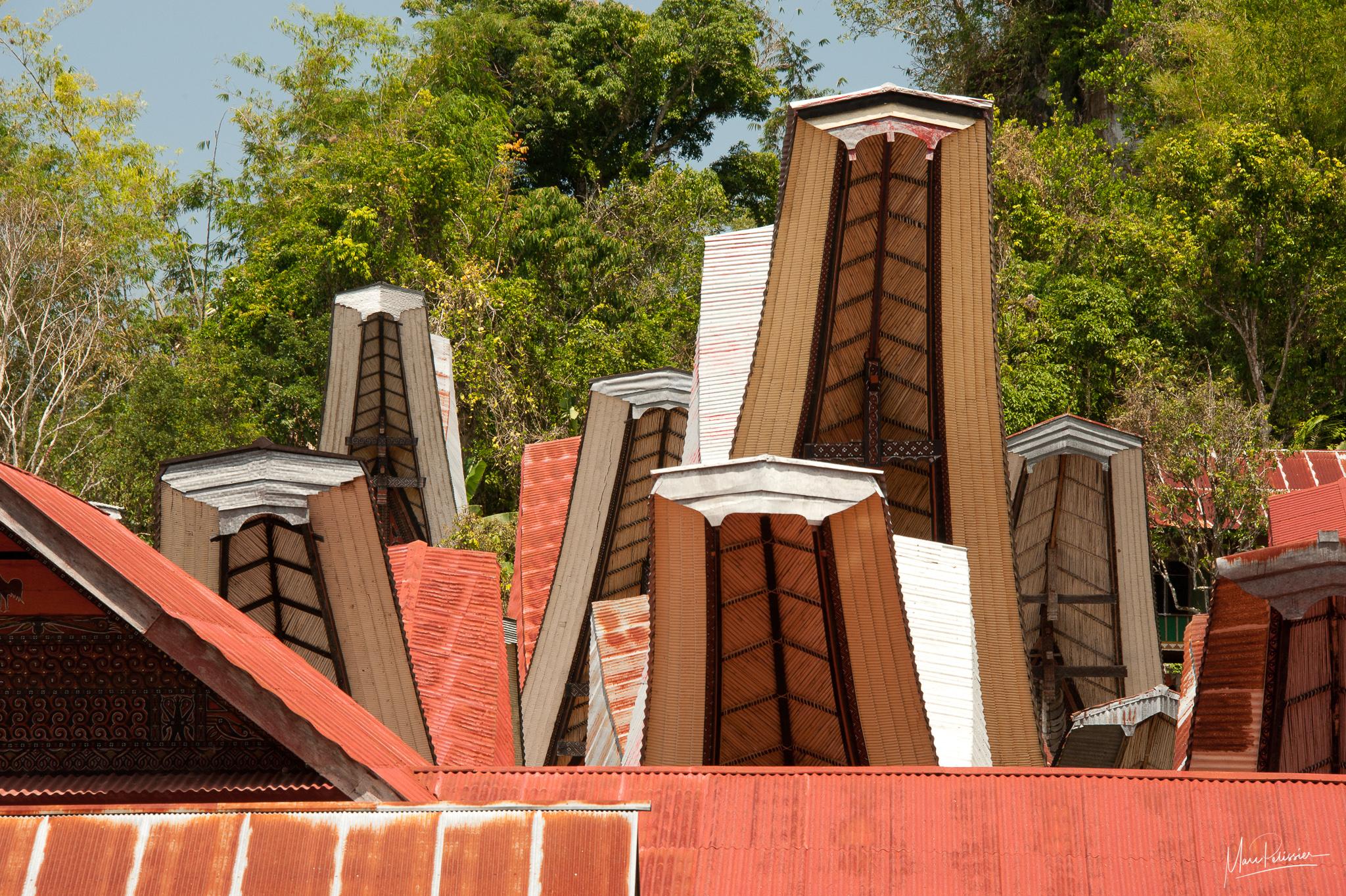 Toraja roof, Indonesia
