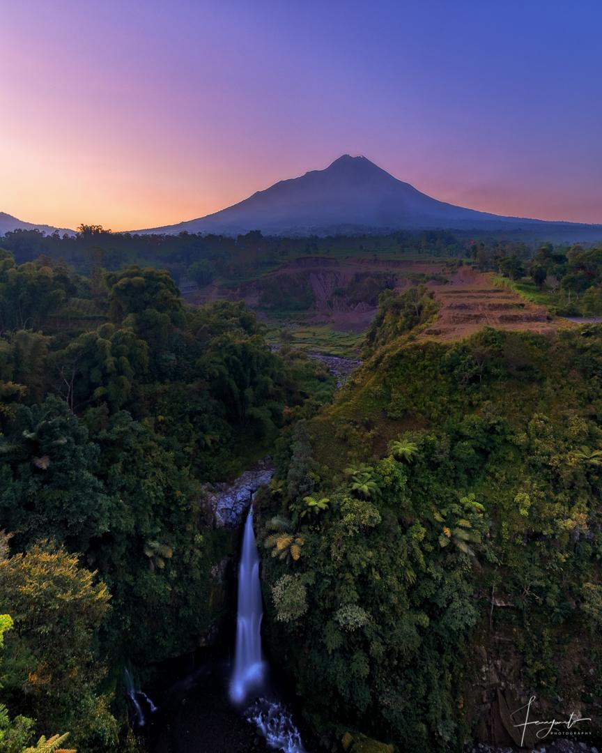 View Merapi Mount from Kedung Kayang, Indonesia