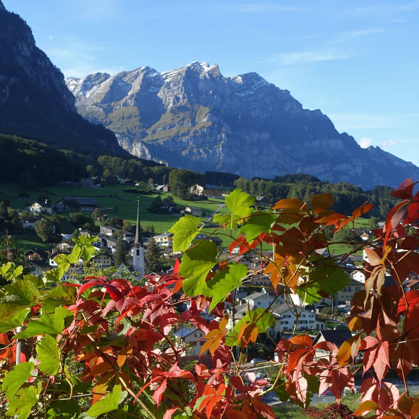 View on Mitlödi/GL, Switzerland