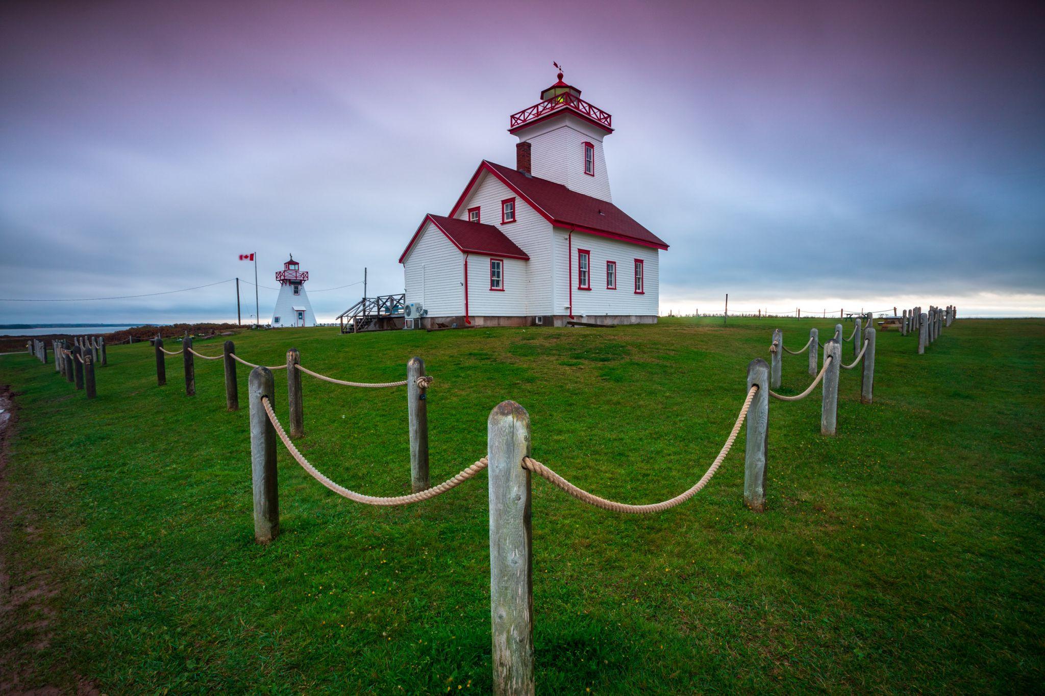 Wood Islands Lighthouse Sunrise Prince Edward Island, Canada