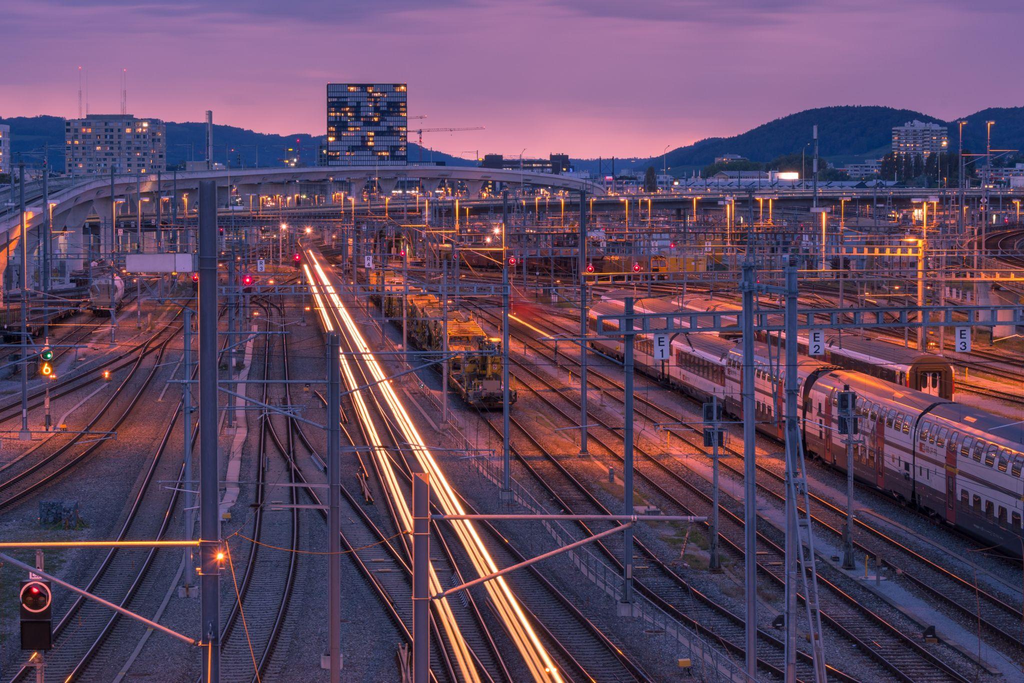 Zurich train tracks, Switzerland