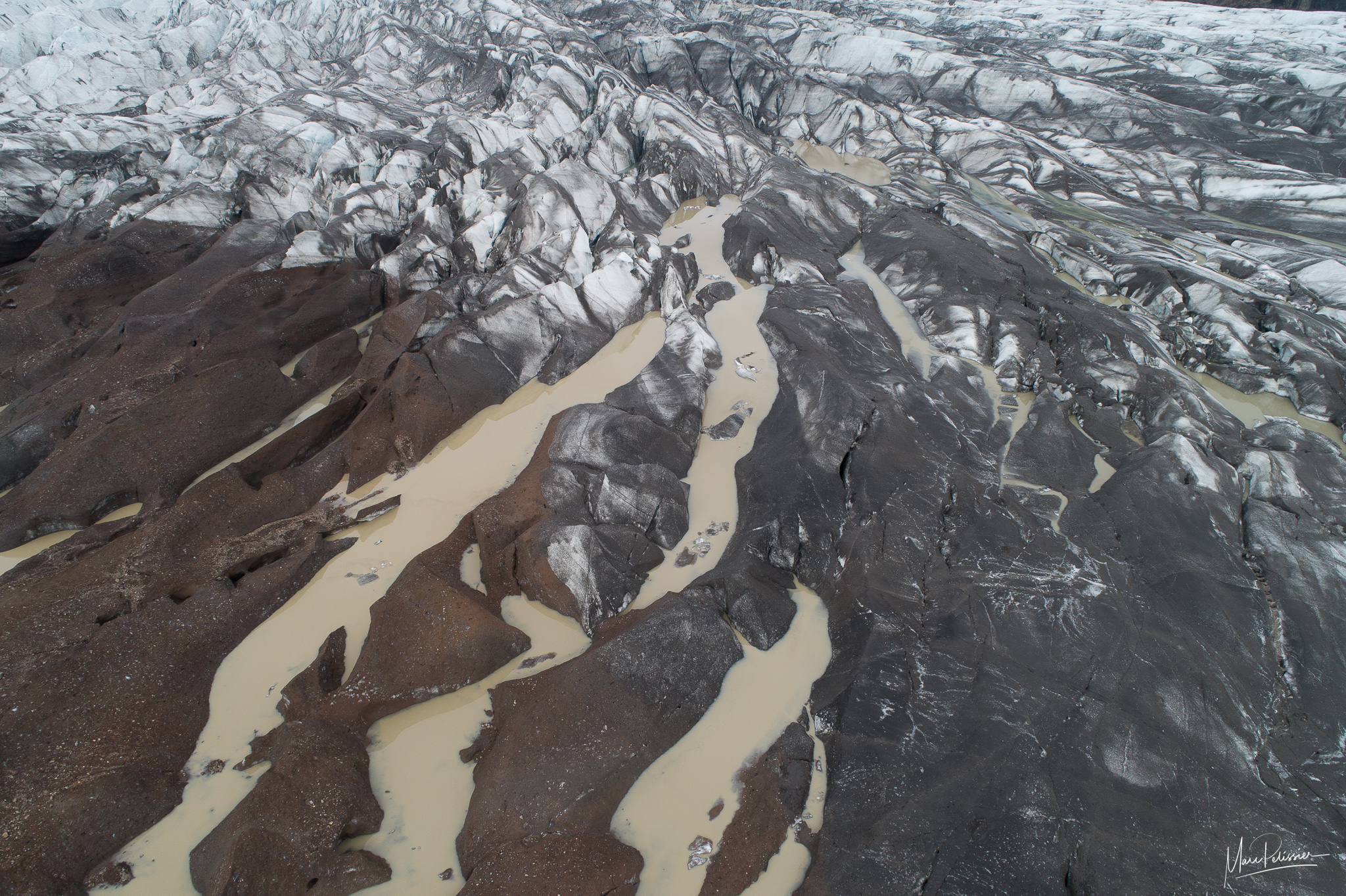Above the Svínafellsjökull Glacier, Iceland