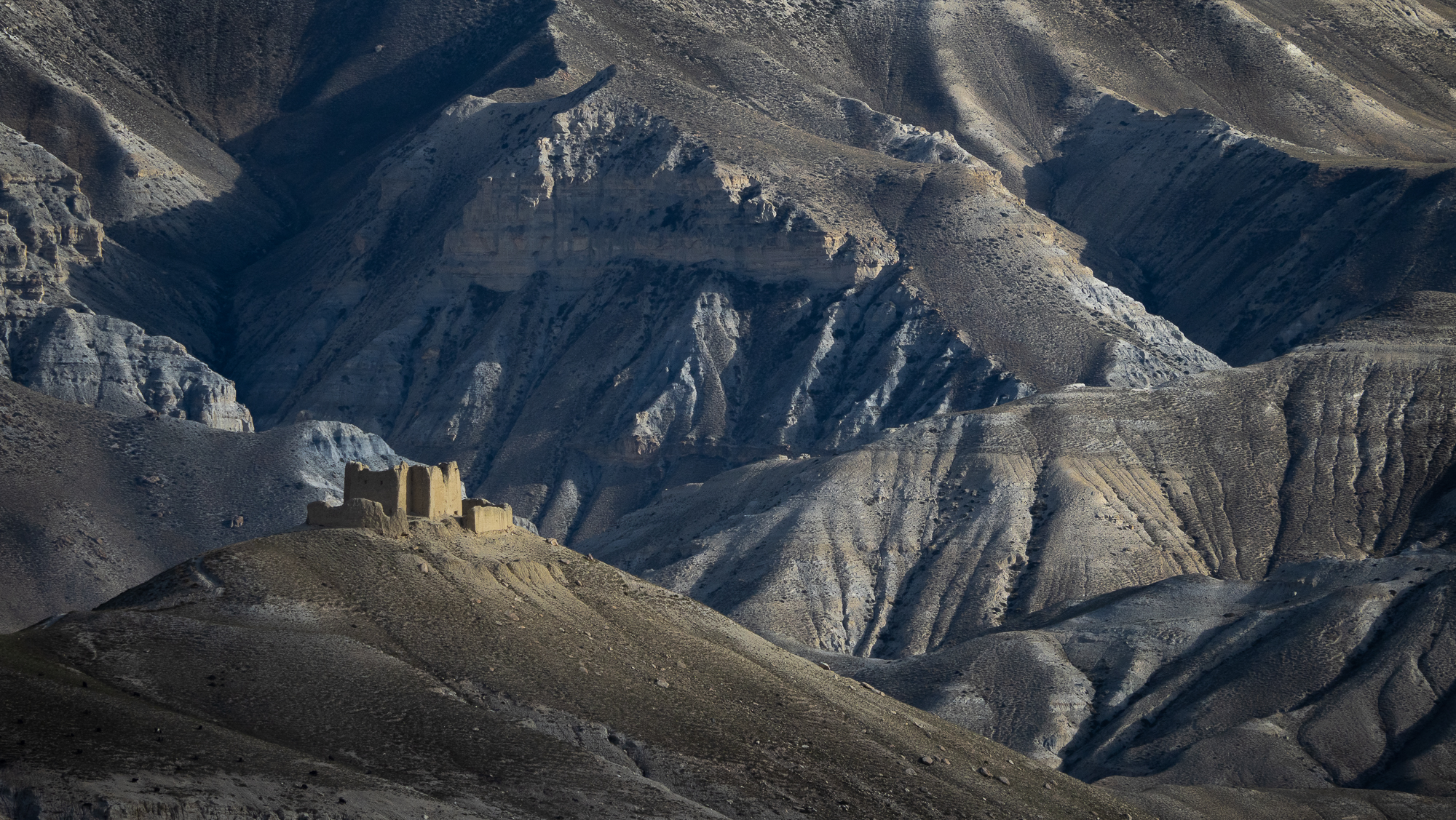 Ancient fort in Lo Mantang, Nepal