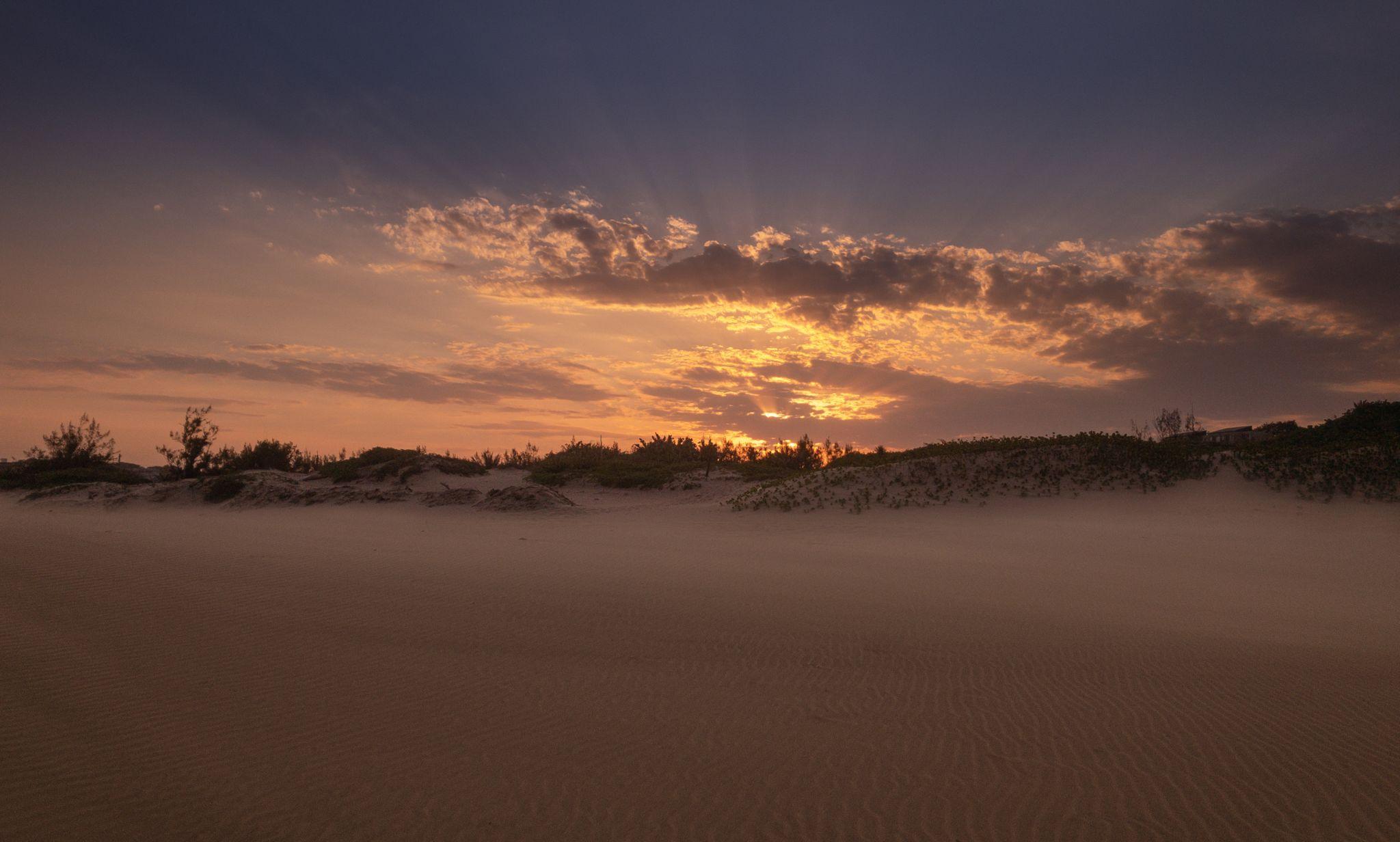 beach sunset, South Africa