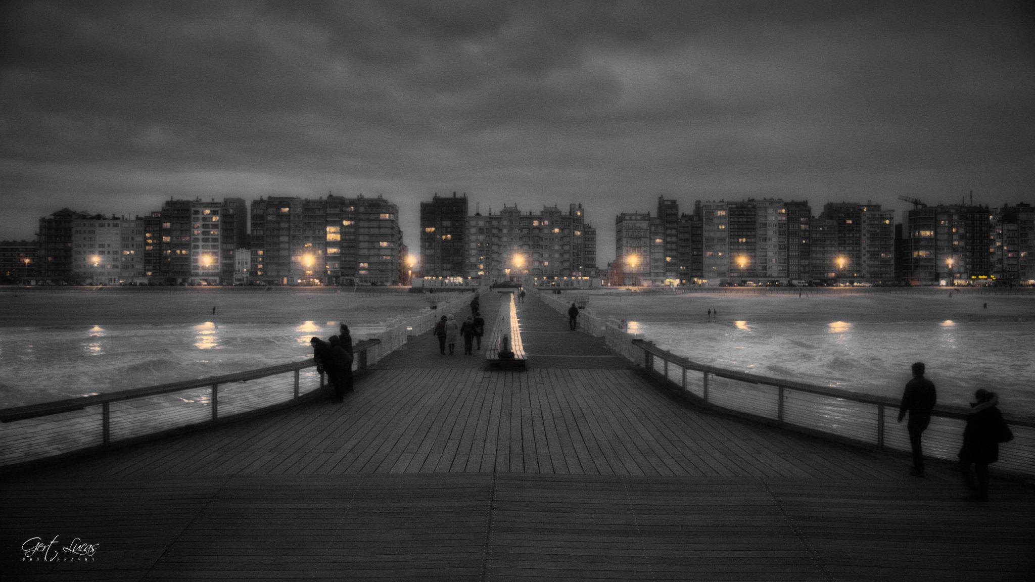 Blankenberge Pier - Coastal view, Belgium