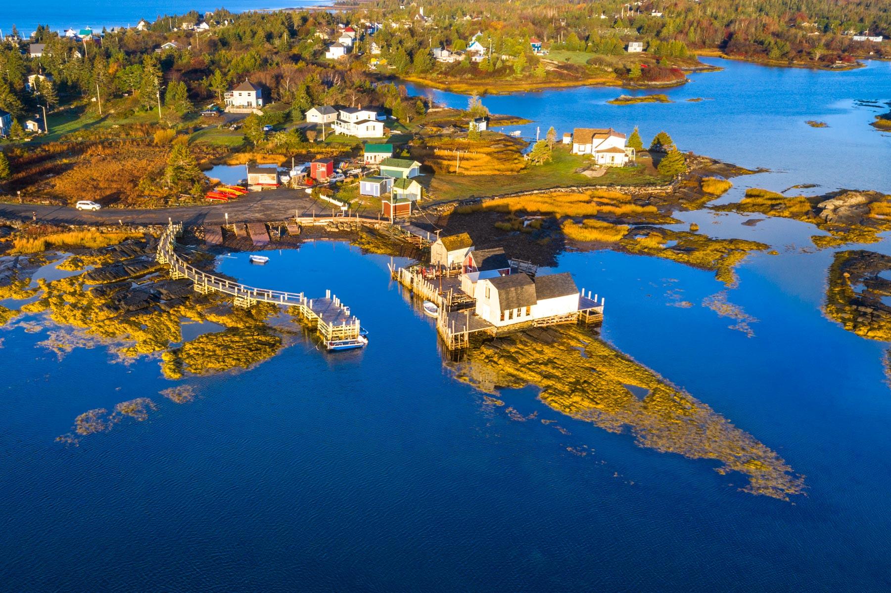 Blue Rocks fishing boat harbour, Lunenburg, Nova Scotia, Canada