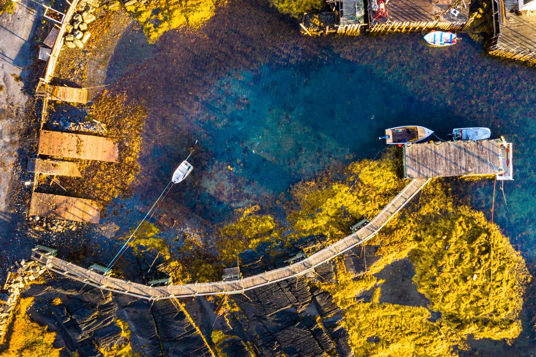 Blue Rocks Harbour straight up, Nova Scotia, Canada