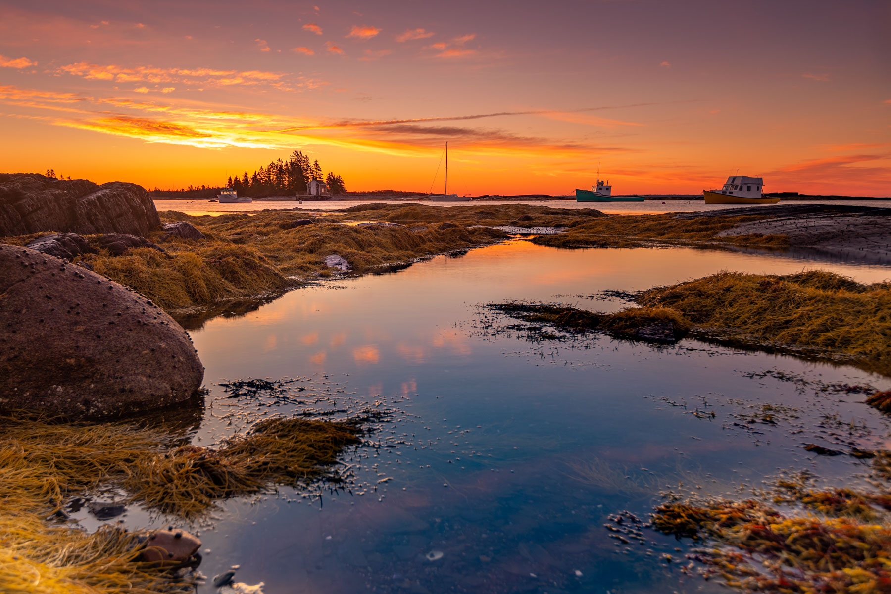 Blue Rocks Sunrise Lunenburg, Nova Scotia, Canada