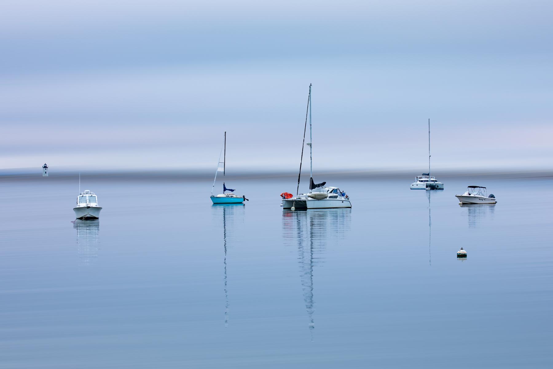 Boats & Lighthouse blur Provincetown, Cape Cod, USA
