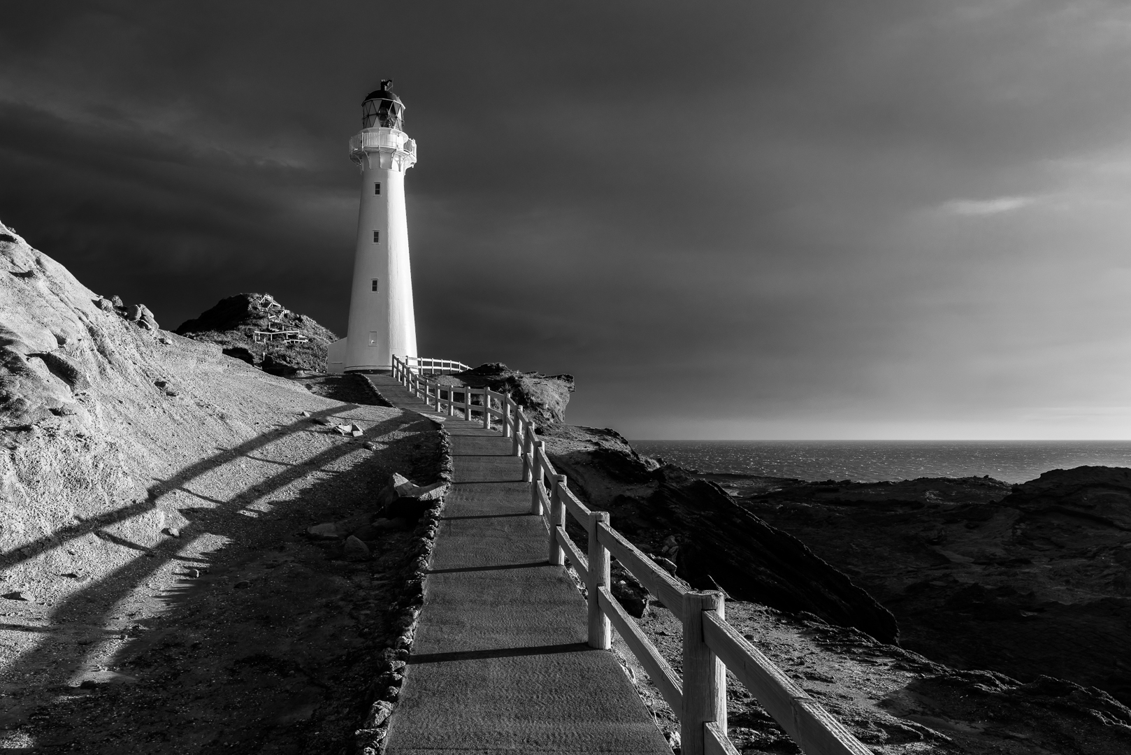 Castlepoint lighthouse, New Zealand
