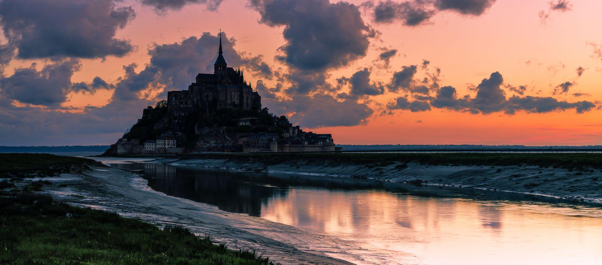 Dawn at the Mont Saint-Michel, France