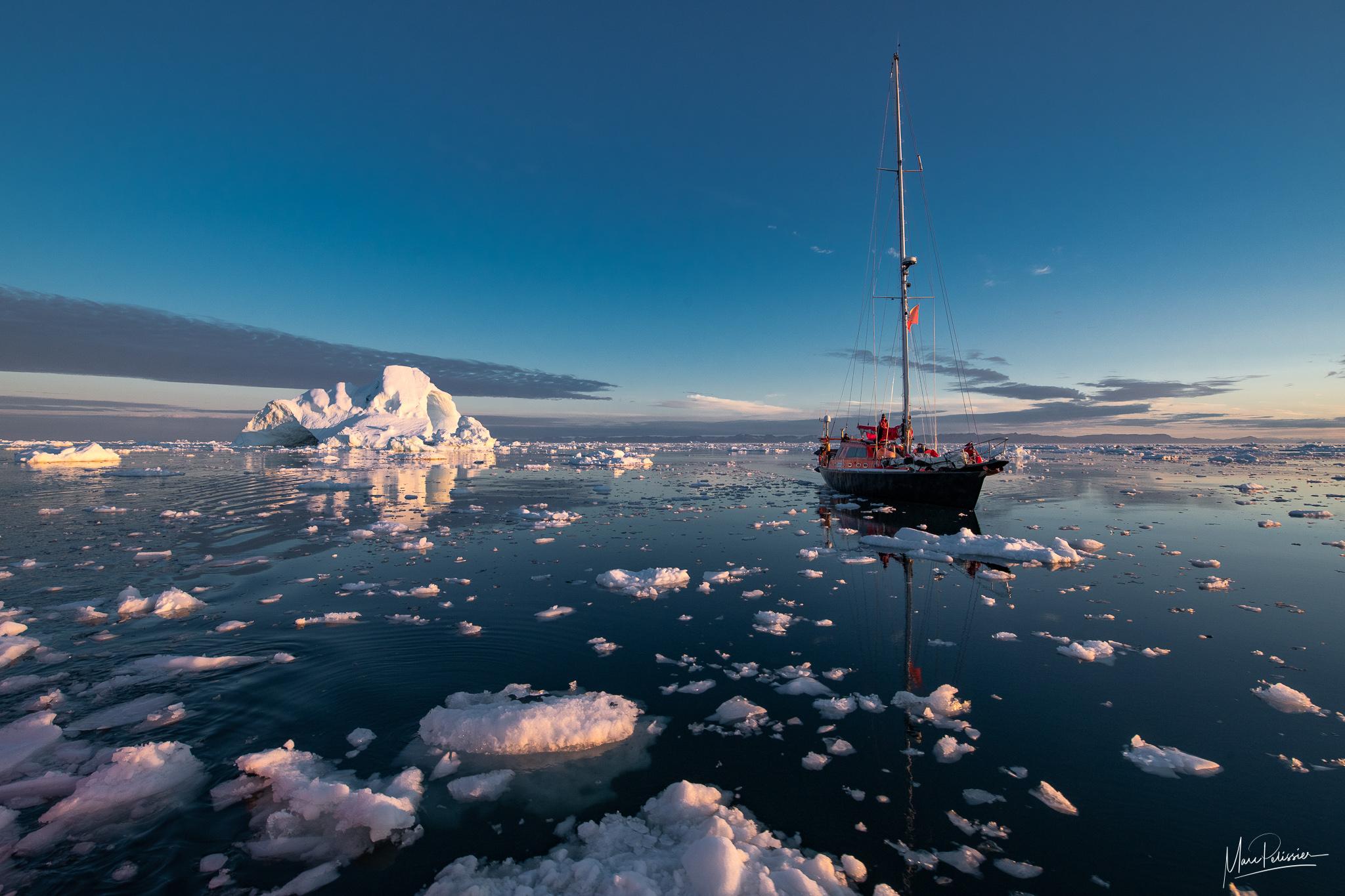 Disko bay sunrise, Greenland