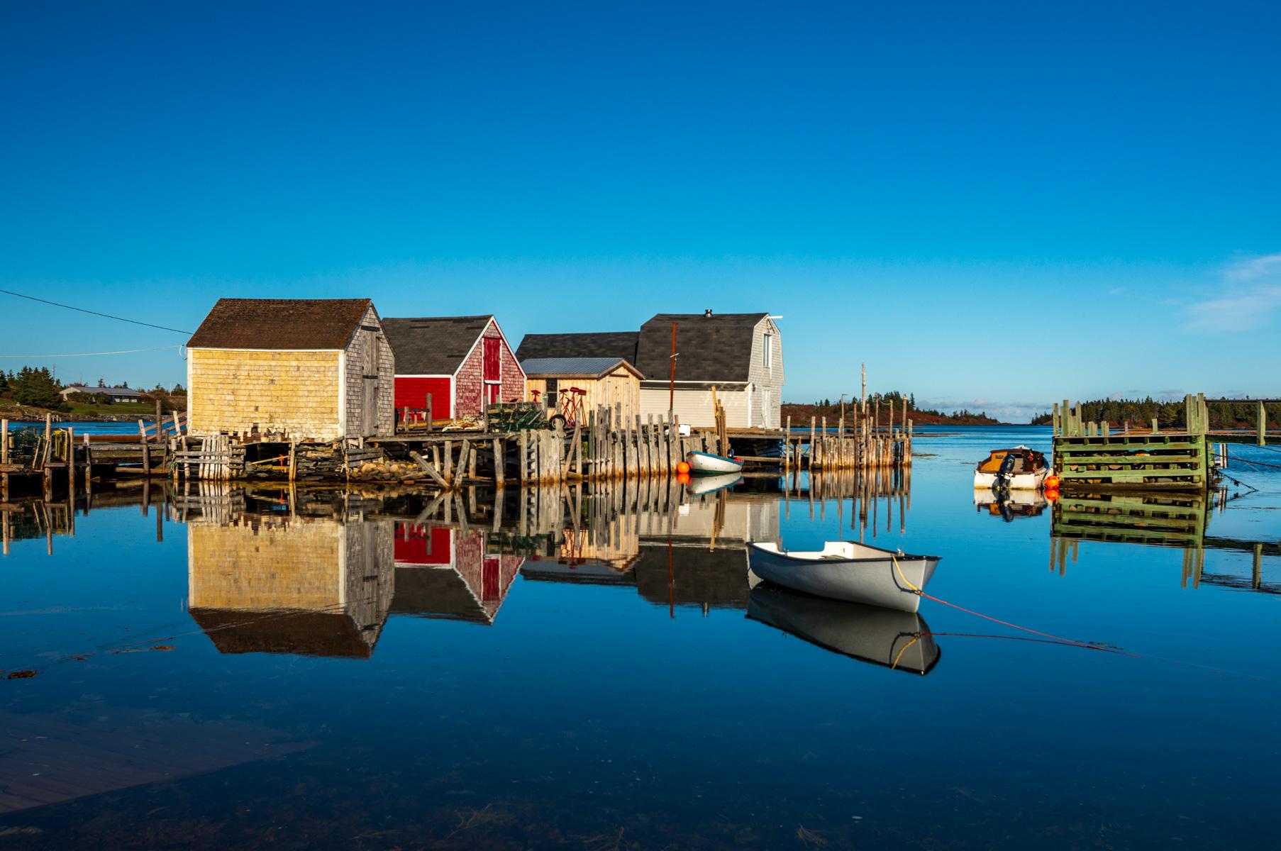 Fishing Village reflections, Blue Rocks, Nova Scotia, Canada