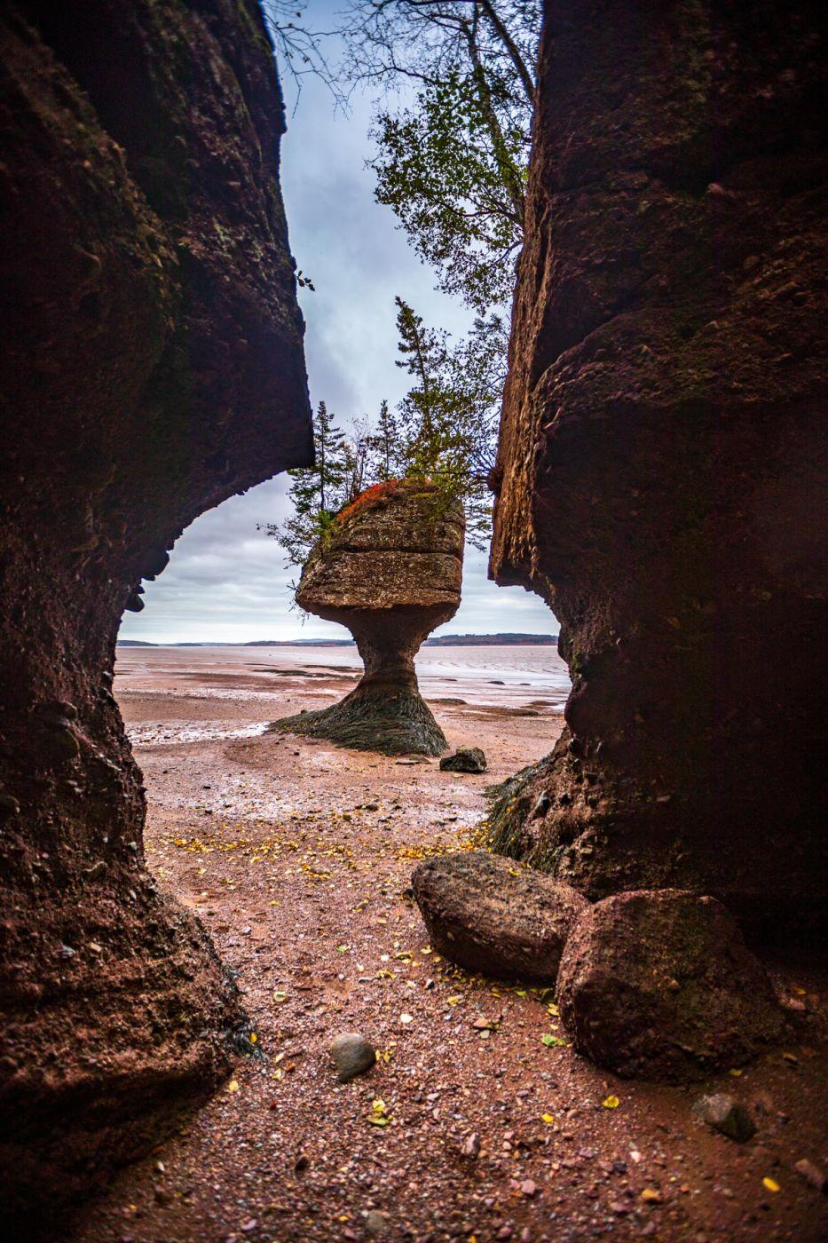 Hopewell Rocks low tide, Hopewell Cape, New Brunswick, Canada