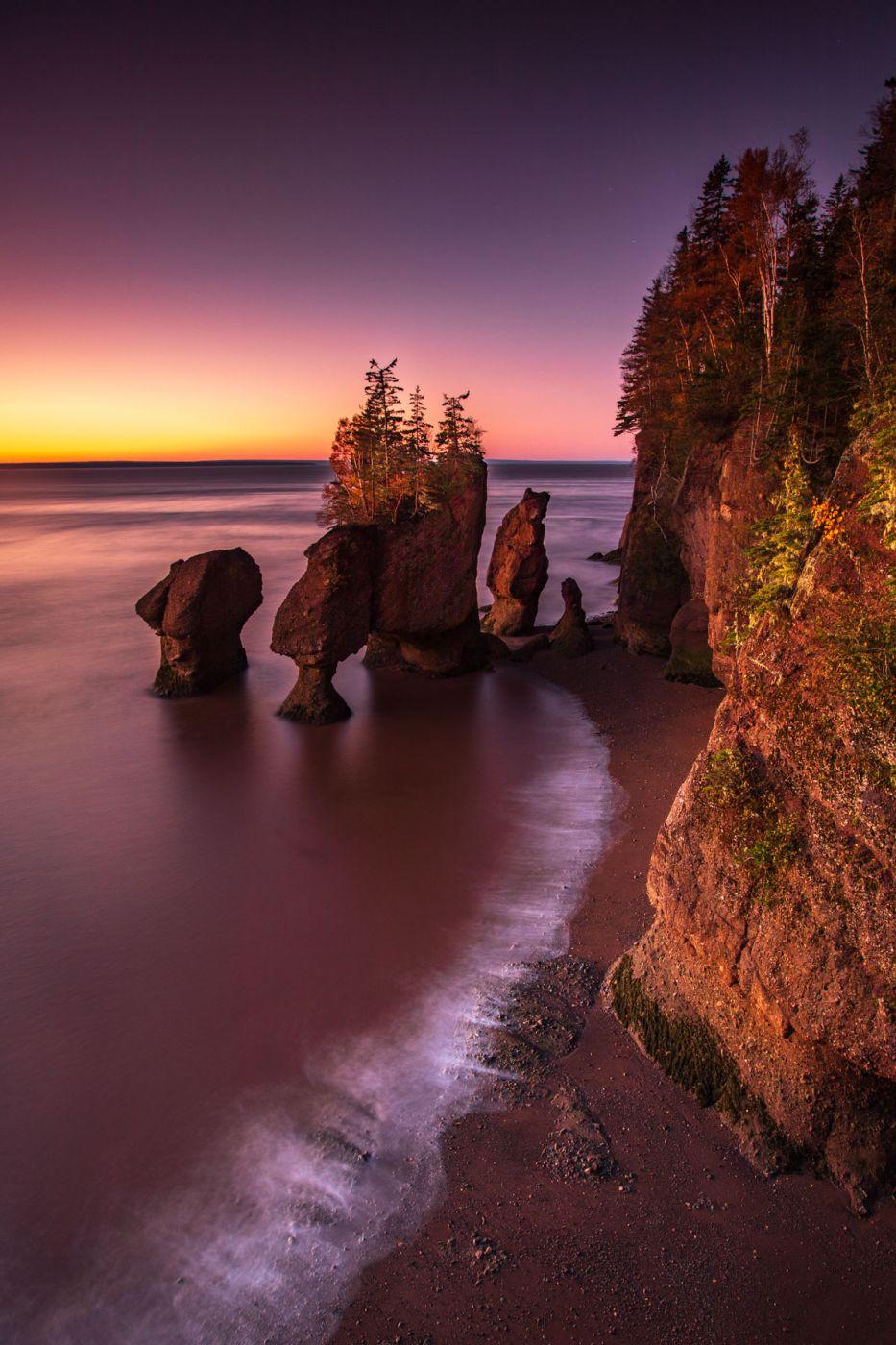 Hopewell Rocks sunrise, Hopewell Cape, New Brunswick, Canada