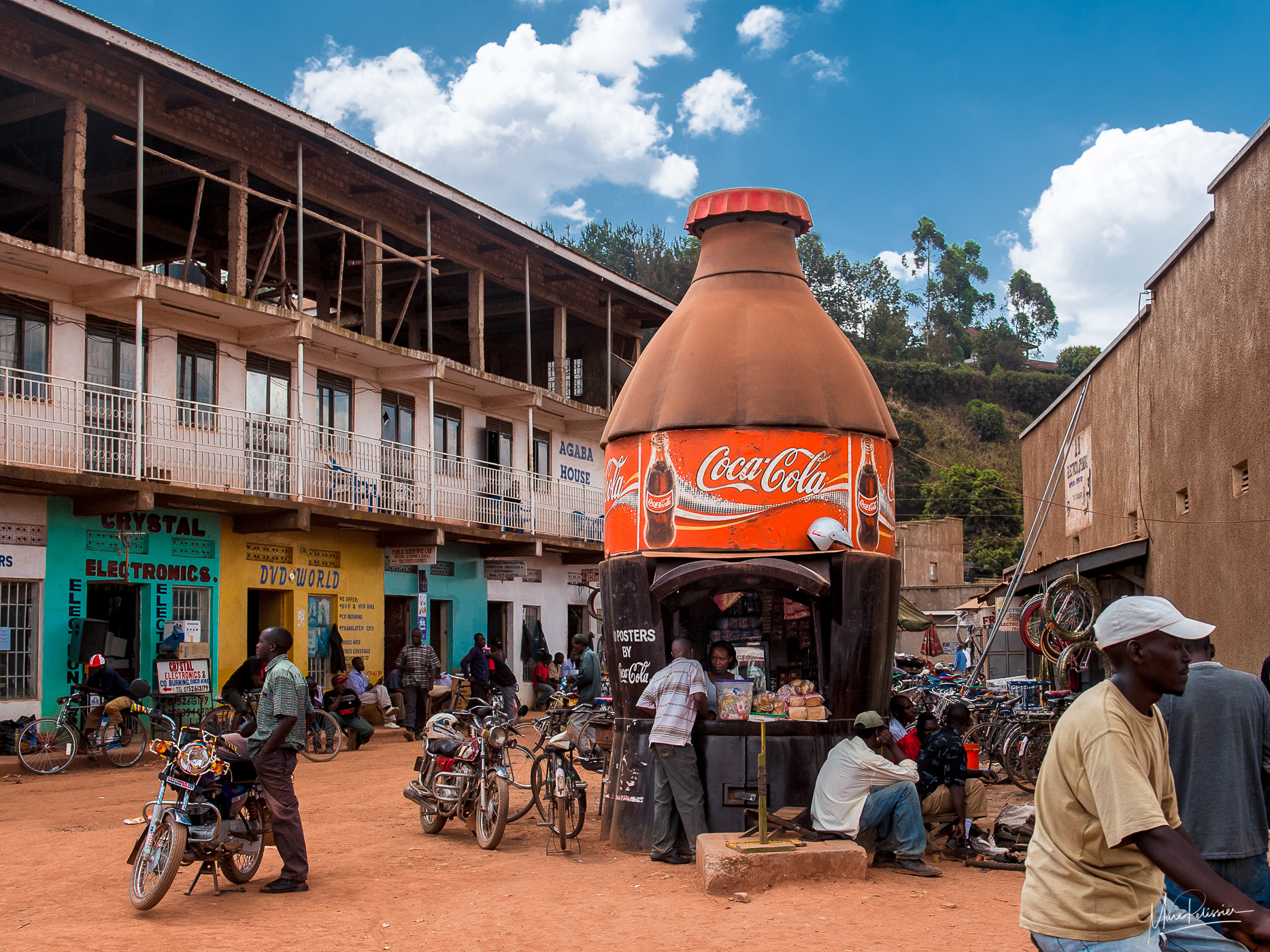 In the coca bottle, Uganda