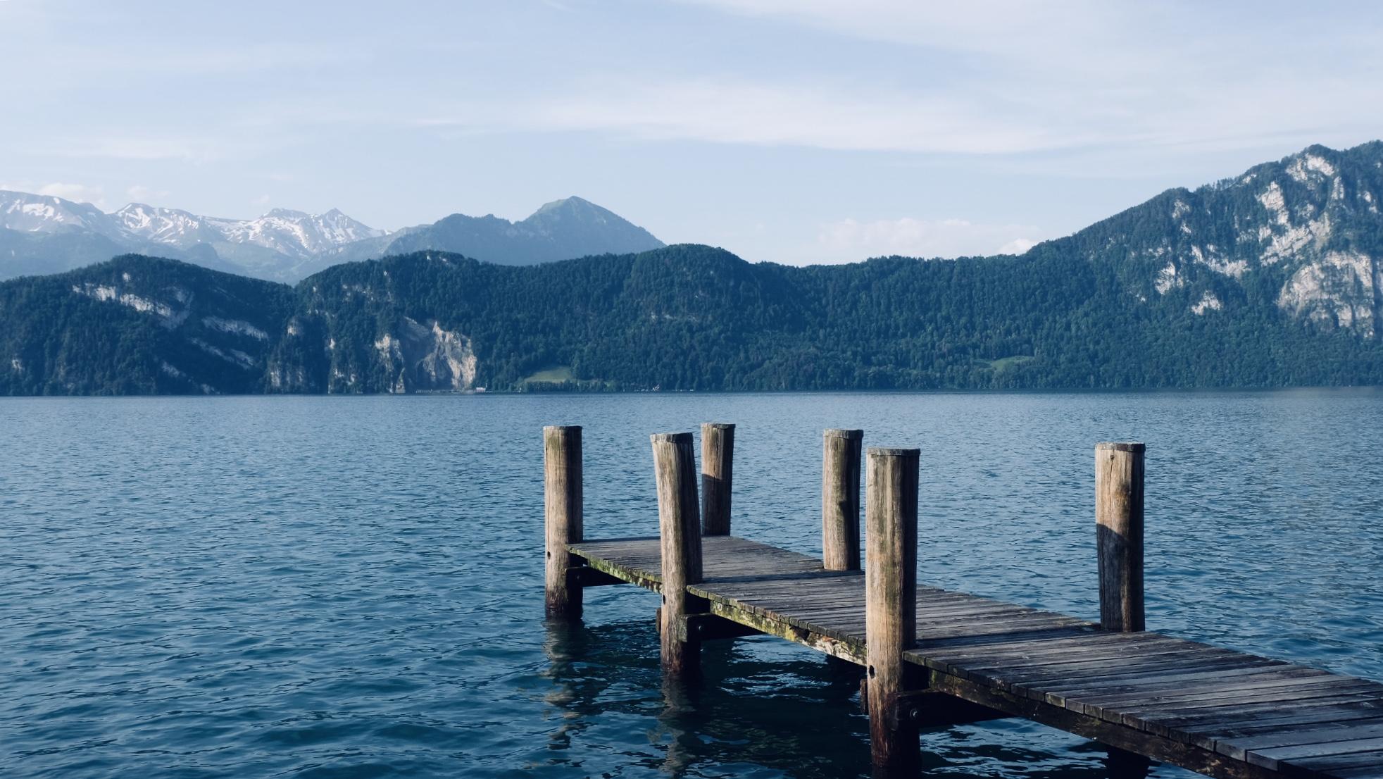Lake view at Seestrasse, Weggis, Switzerland, Switzerland
