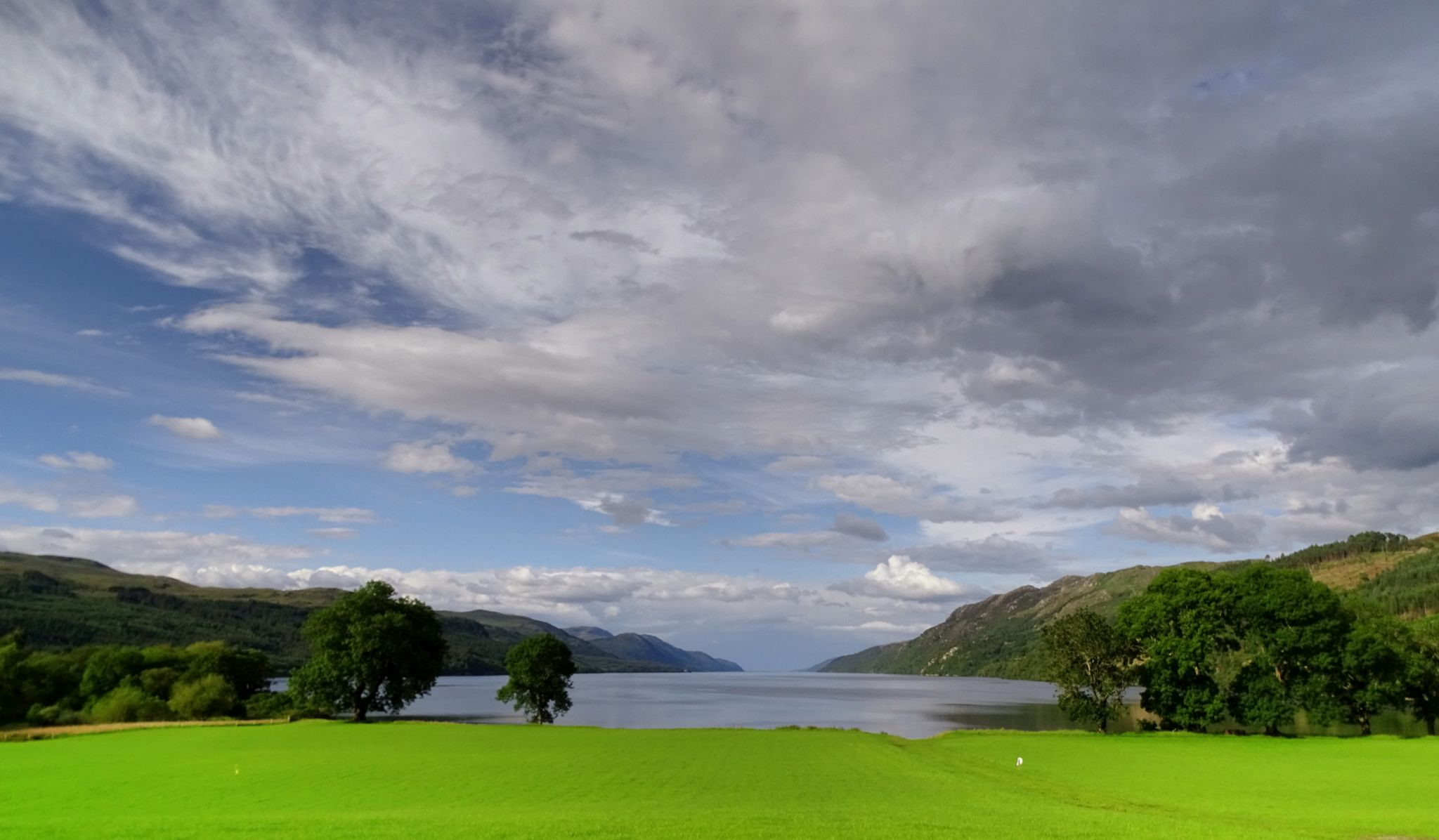 Loch Ness view from the Western point, United Kingdom