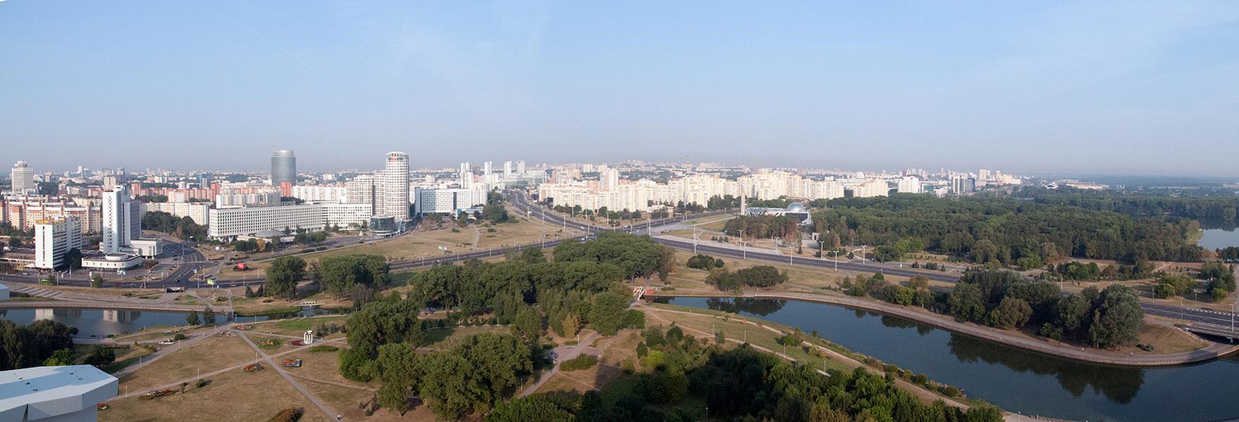 Minsk from above, Belarus