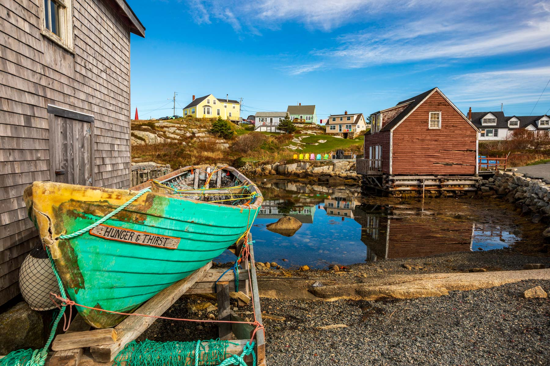 Old Fishing boat, fishing village, Peggy's Cove, Nova Scotia, Canada