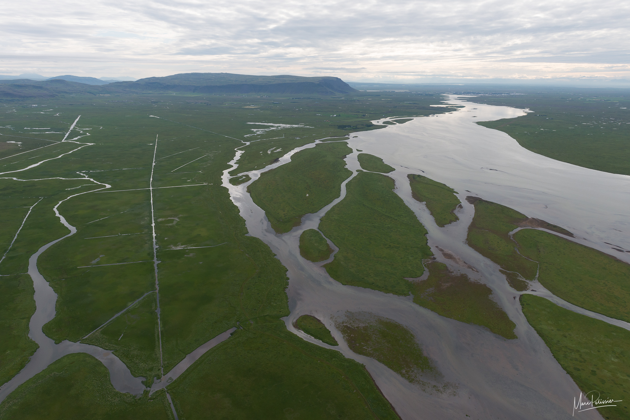 Olfusa river after Selfoss, Iceland