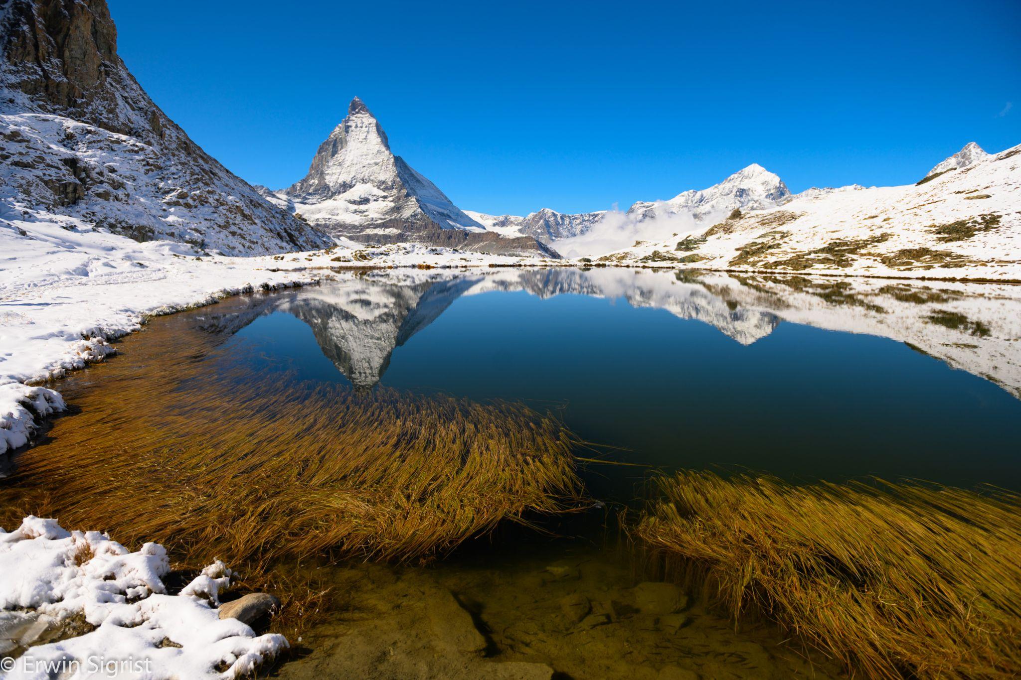 Riffle-Lake near Gornergrat, Switzerland