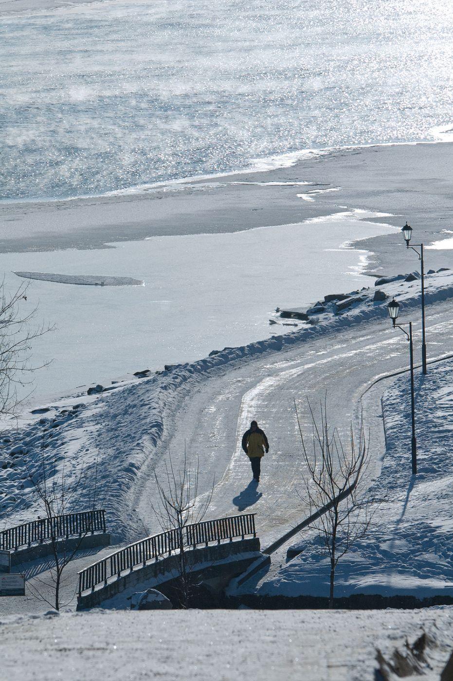 River Moscow in Kolomenskoye, Russian Federation
