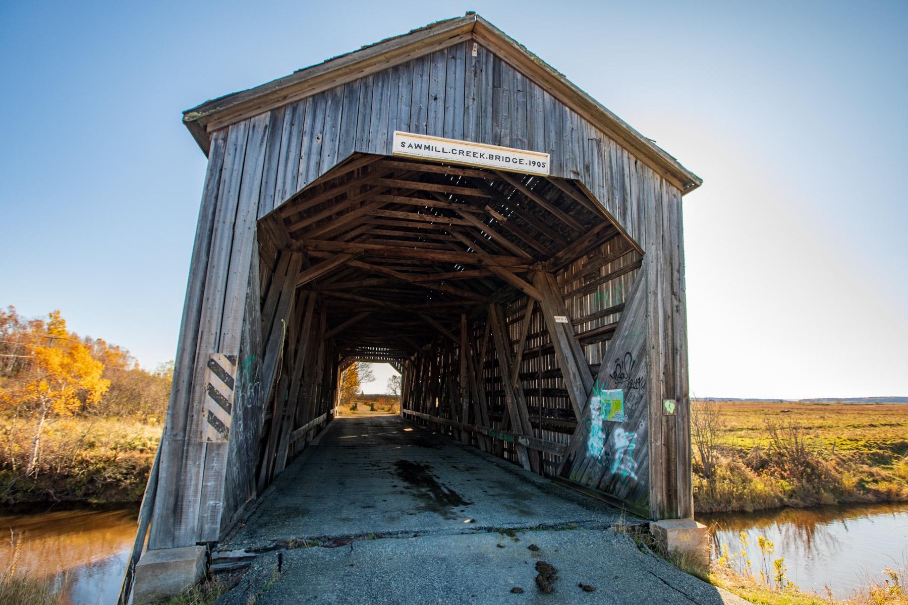 Sawmill Creek Bridge, Hopewell Hill, New Brunswick, Canada