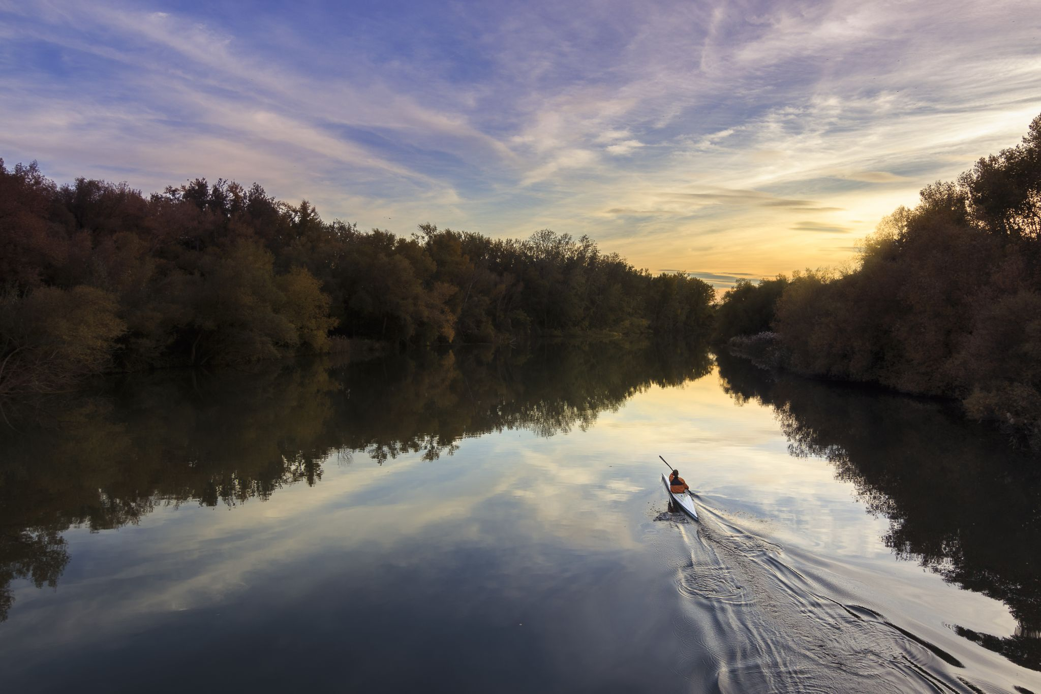 Segre river at Mitjana Park in Lleida (Spain), Spain