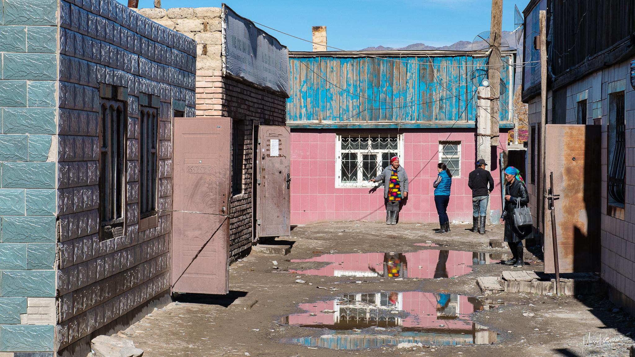 Street near the Olgy city market, Mongolia