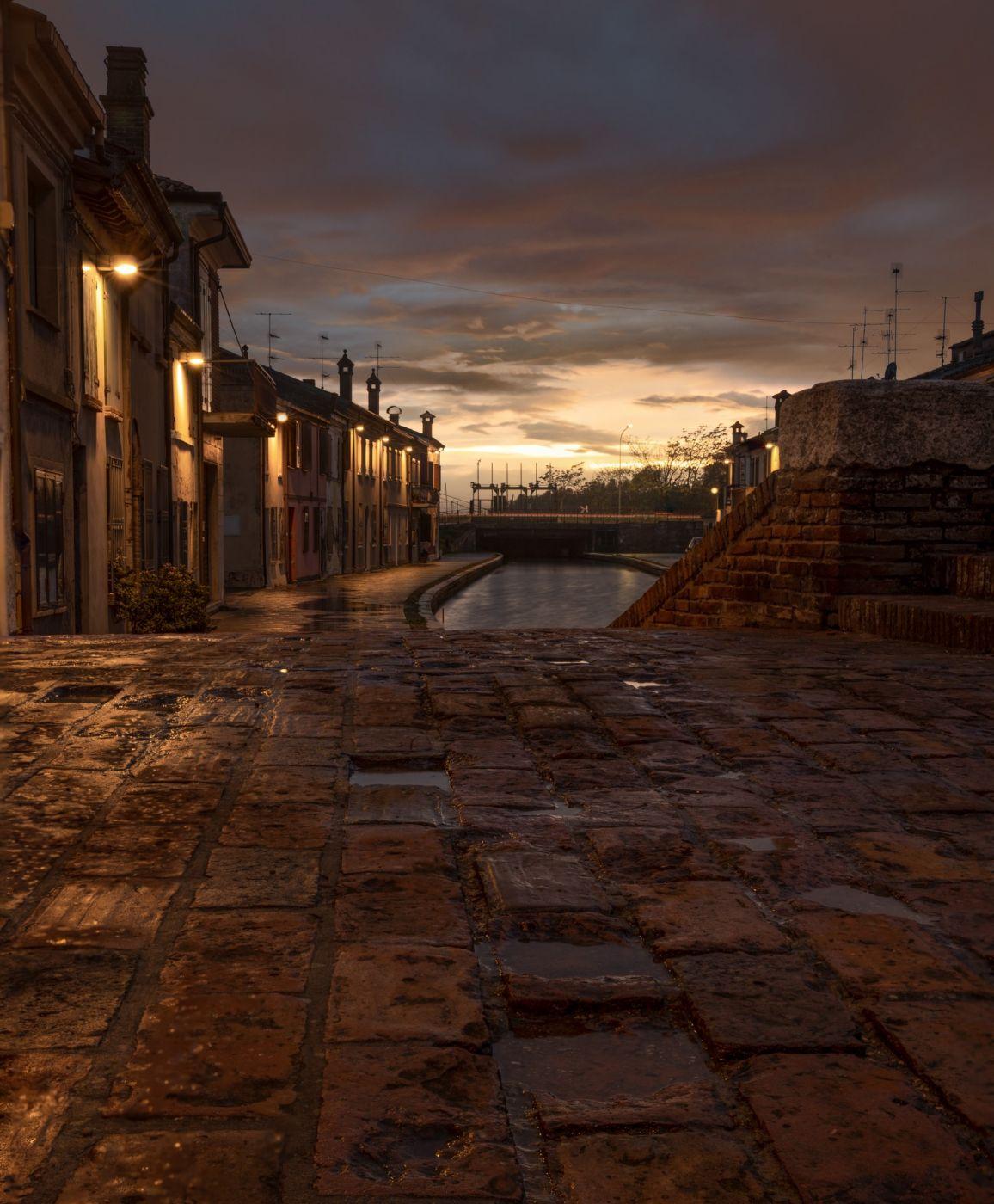 Sunset landscape, Italy