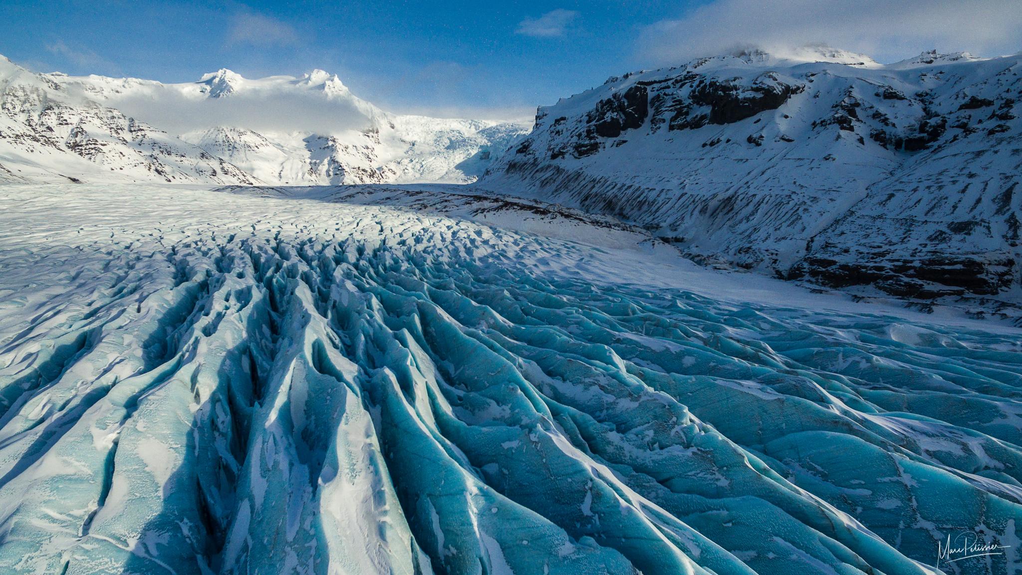 The ice teeth of Svínafellsjökull Glacier, Iceland