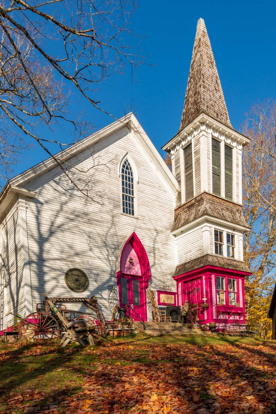 The Pink Church Boutique, Hopewell Rocks, New Brunswick, Canada