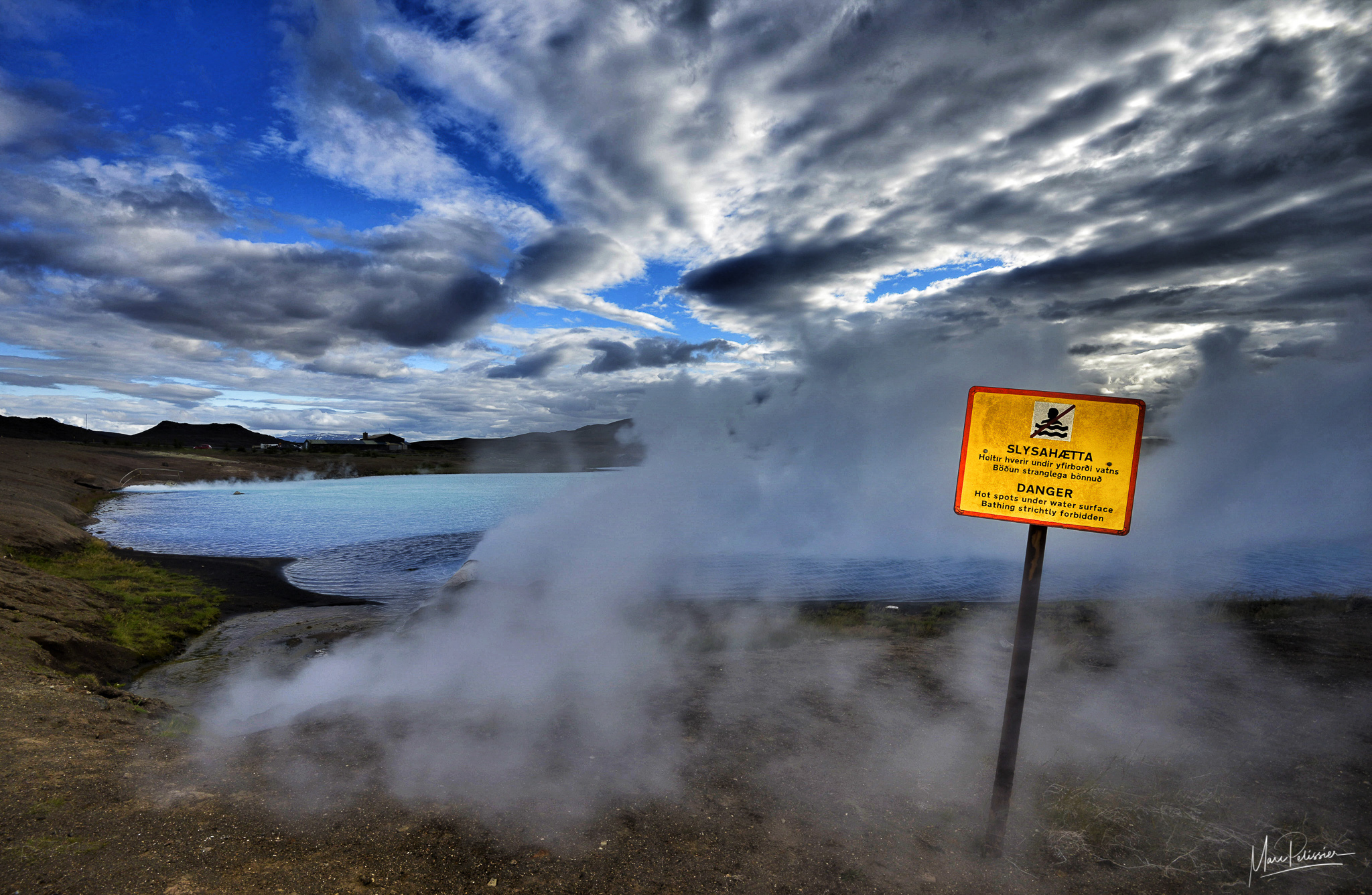 The plant blue lake, Iceland