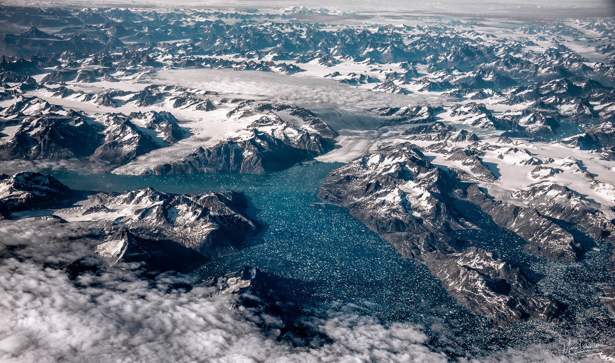 Above East greenland, Greenland