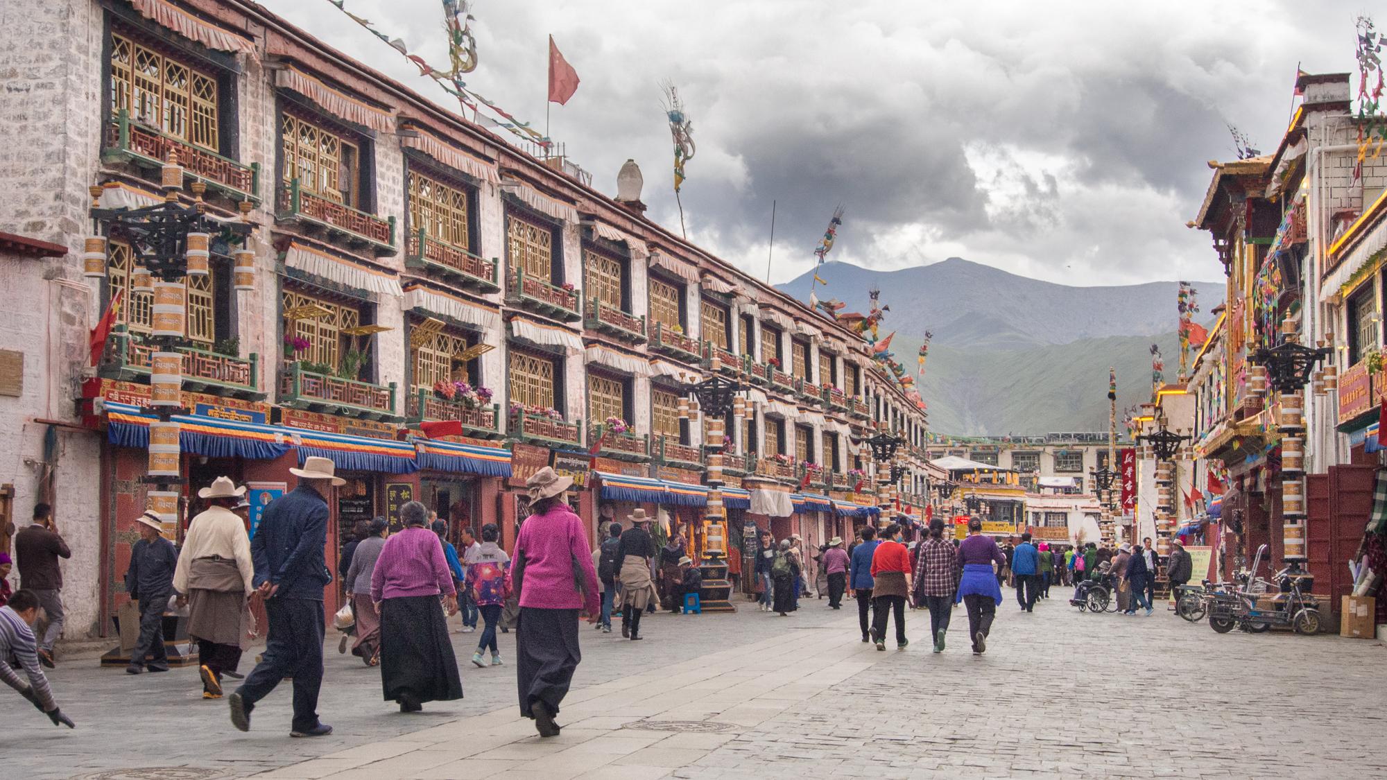 Barkhor street, China