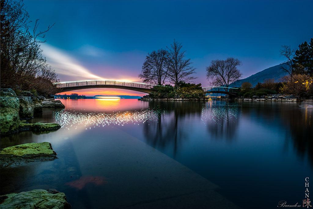 Bielersee, Lake Biel, Sunset in Switzerland, Switzerland