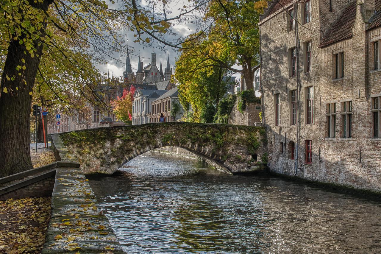 Brugge Canal Bridge, Belgium