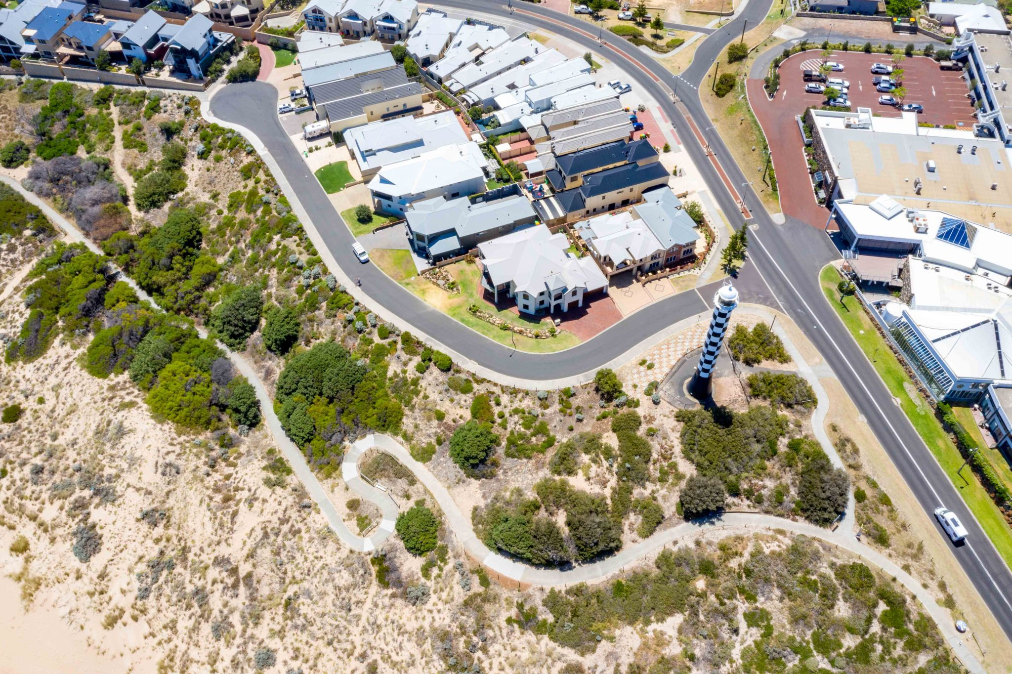 Bunbury Lighthouse from above, Western Australia, Australia